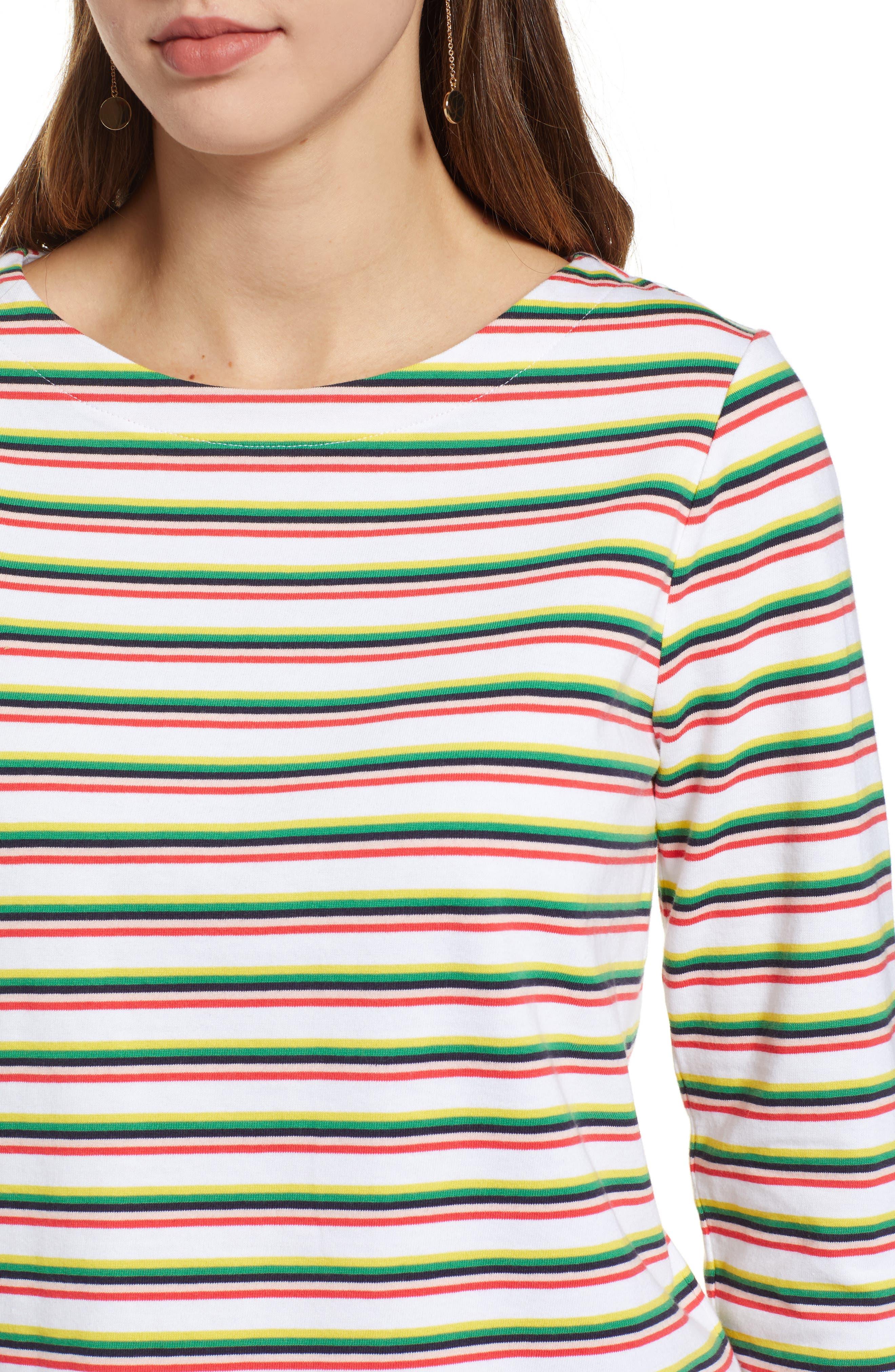 Stripe Top,                             Alternate thumbnail 4, color,                             WHITE MULTI PRIDE STRIPE