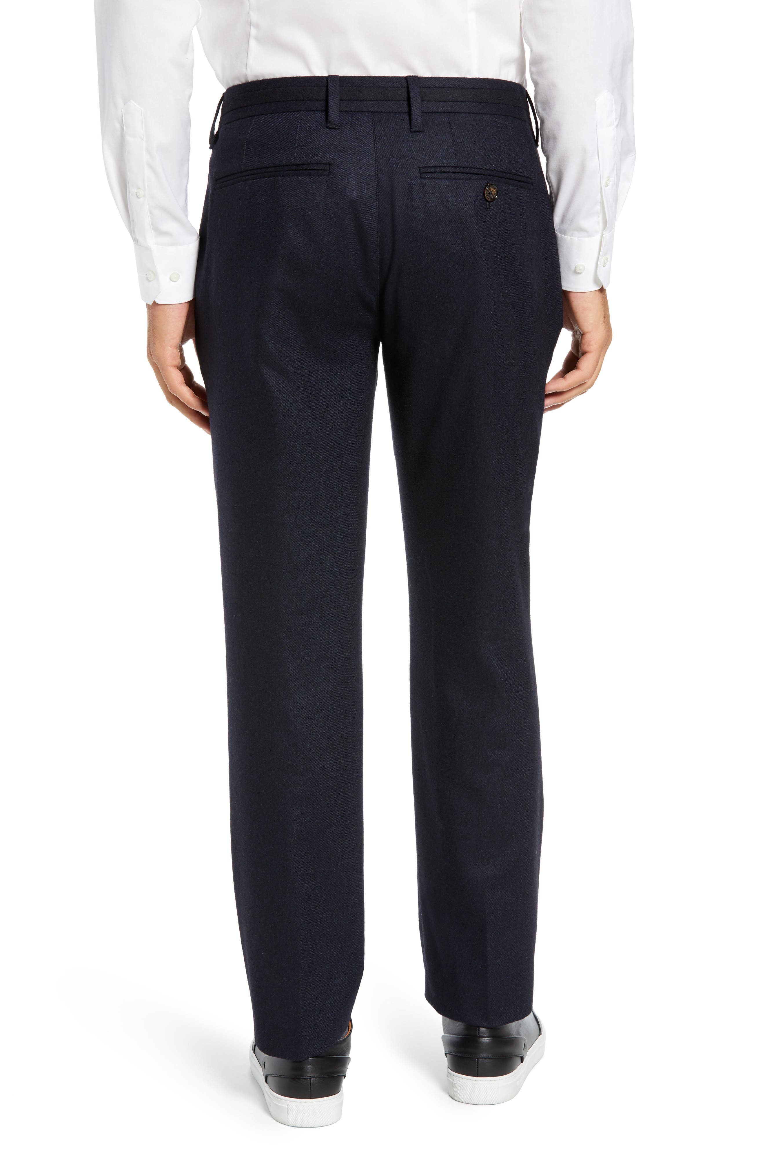 Matztro Trim Fit Wool Blend Trousers,                             Alternate thumbnail 2, color,                             NAVY