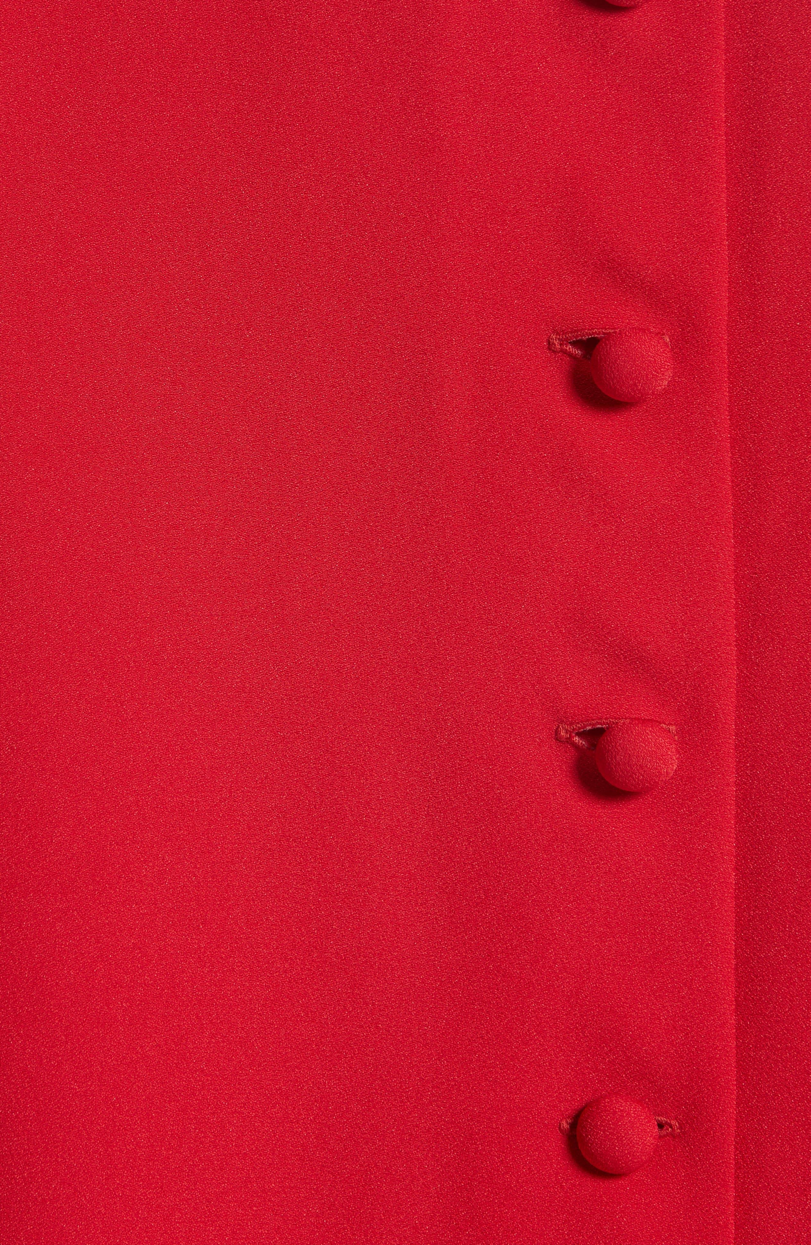 Pleated Sleeve Crepe Cady Dress,                             Alternate thumbnail 5, color,