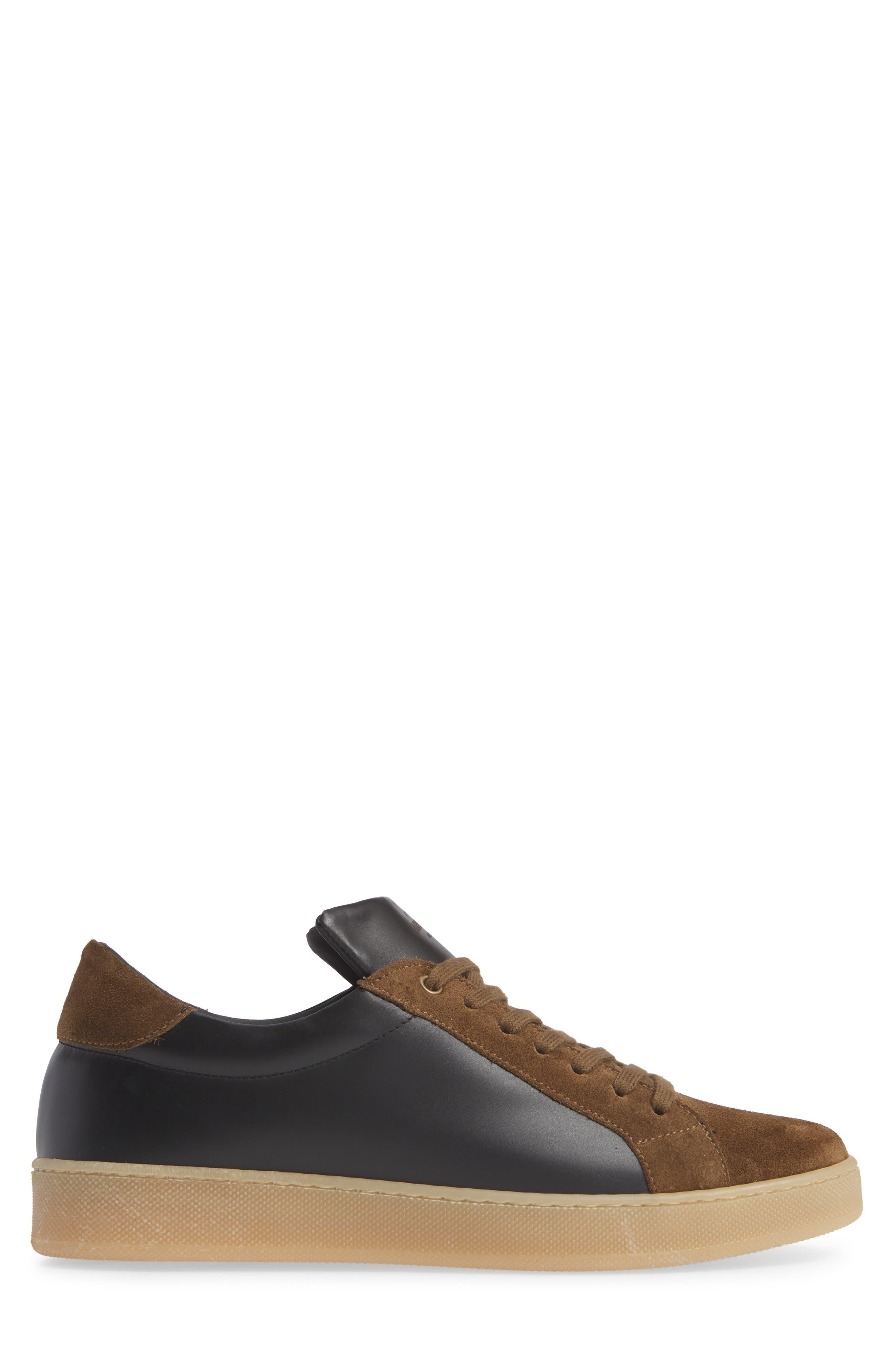 Rome Sneaker,                             Alternate thumbnail 3, color,                             BLACK/ GEIGE