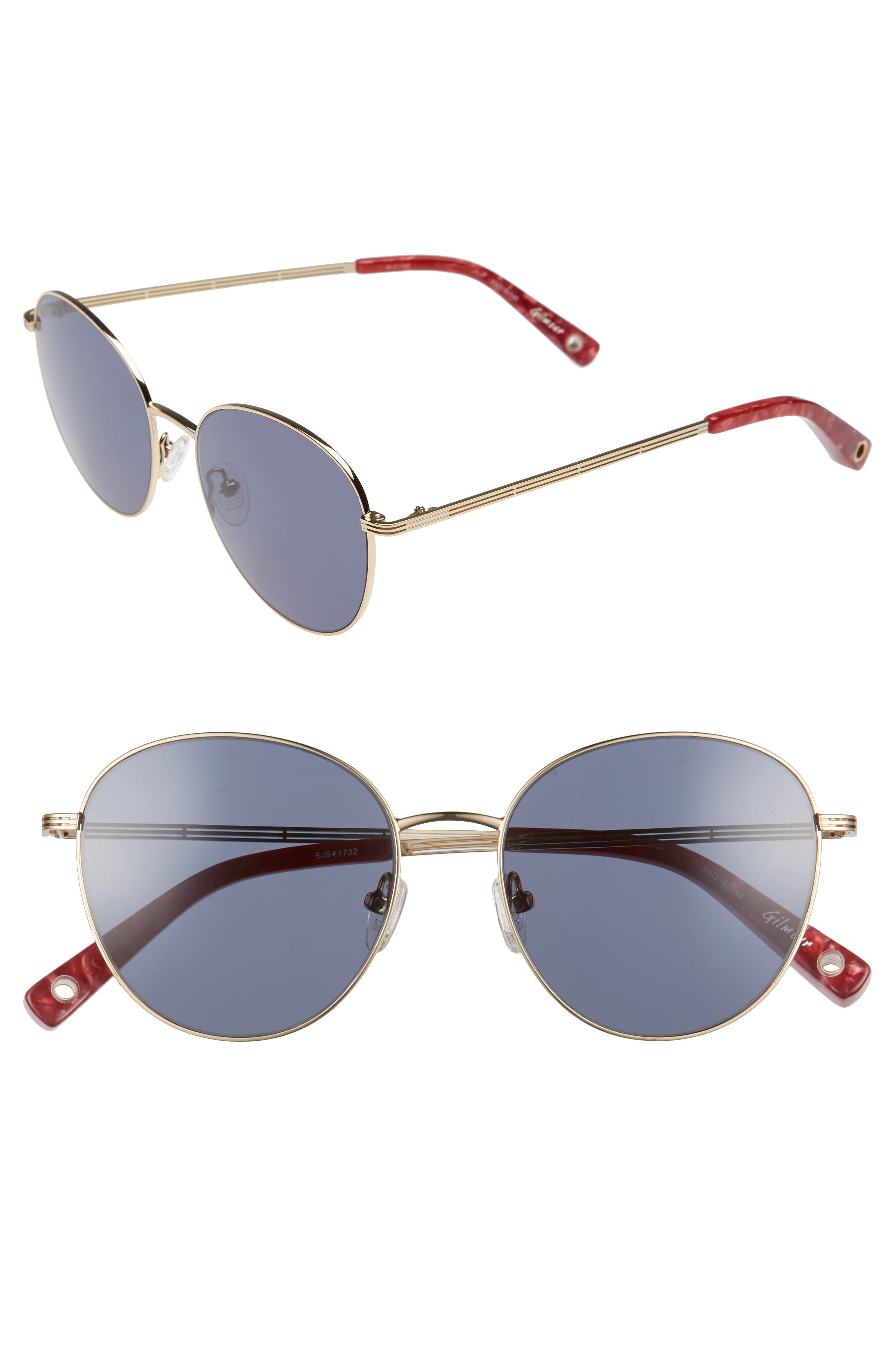 Gilmour 53mm Round Sunglasses & Beaded Chain,                             Main thumbnail 2, color,