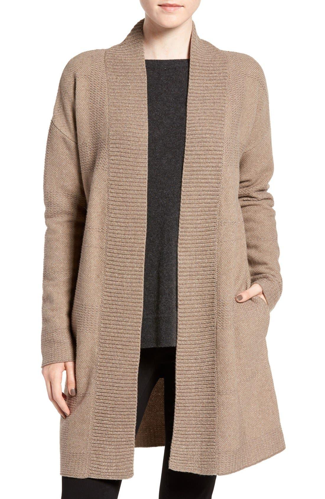 'Tiree' Multi Texture Cardigan, Main, color, 270