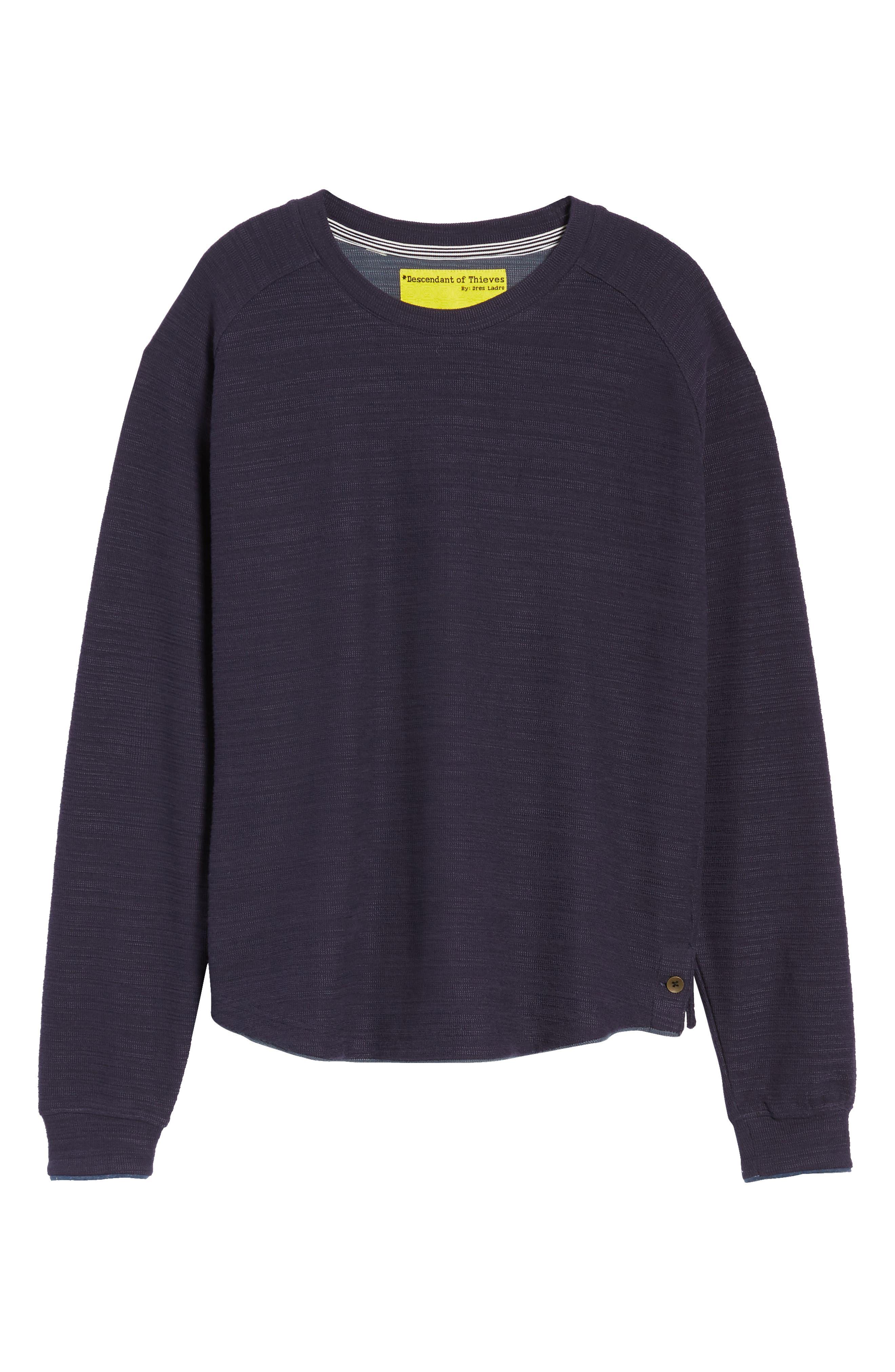 250 Loft Slubbed Crewneck Sweater,                             Alternate thumbnail 6, color,                             NAVY