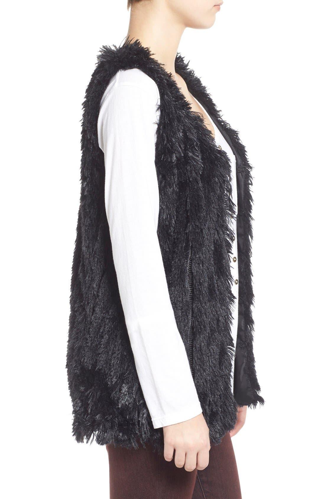 Faux Fur Vest,                             Alternate thumbnail 4, color,                             001