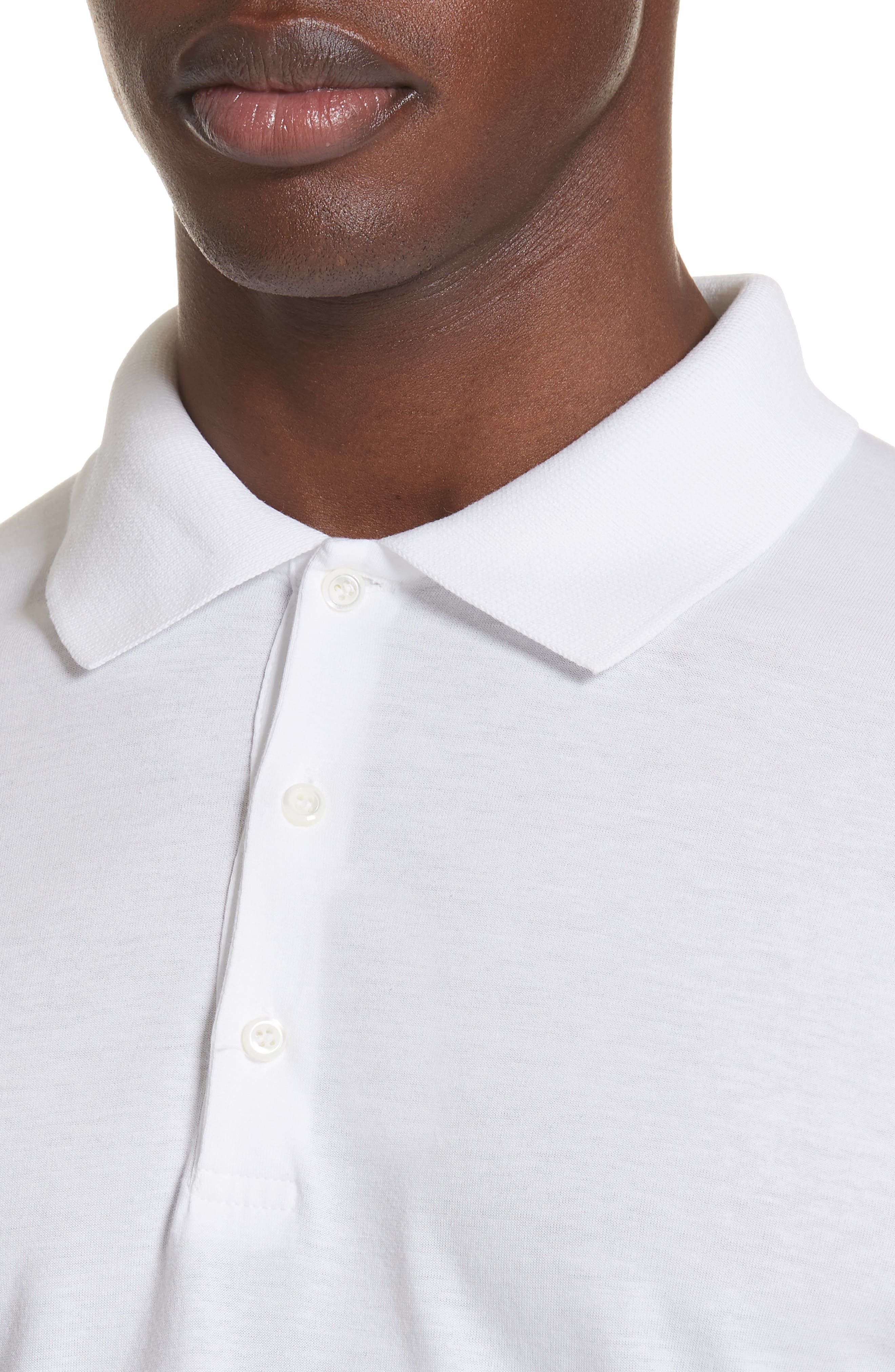 Solid Polo,                             Alternate thumbnail 4, color,                             WHITE