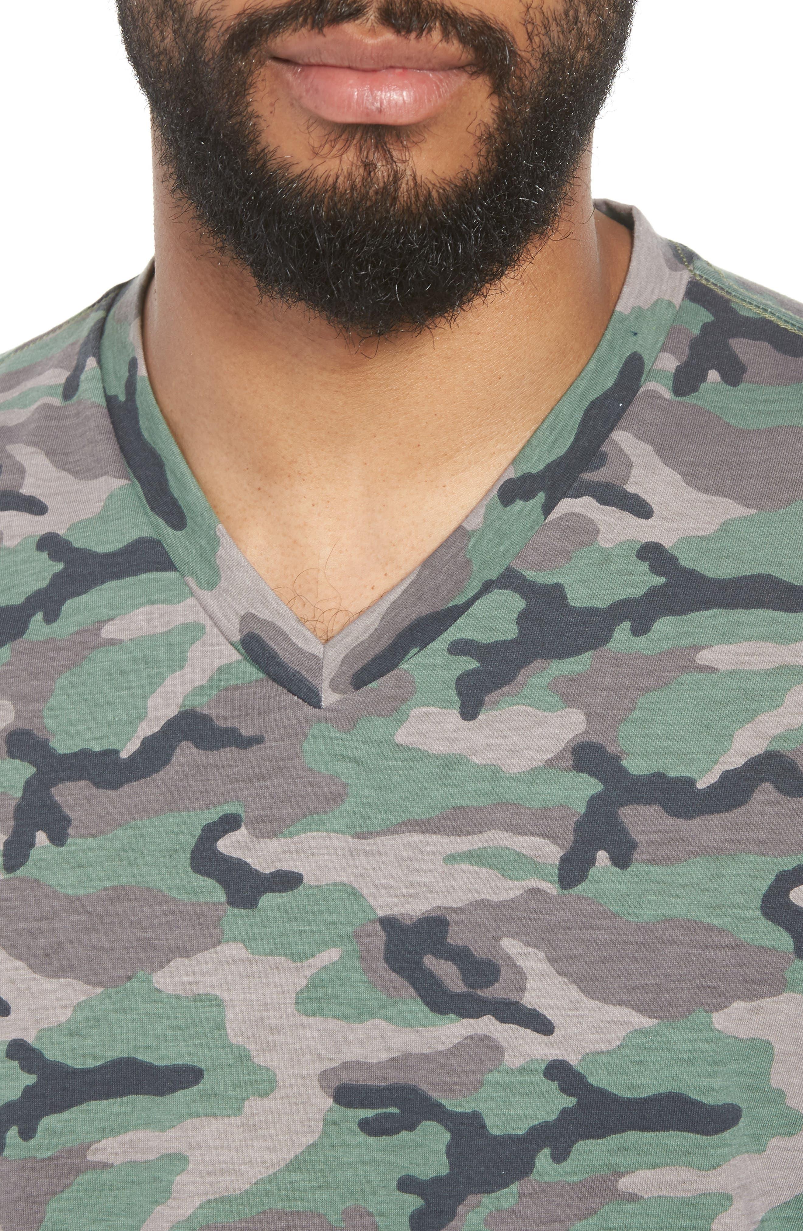 V-Neck T-Shirt,                             Alternate thumbnail 4, color,                             210