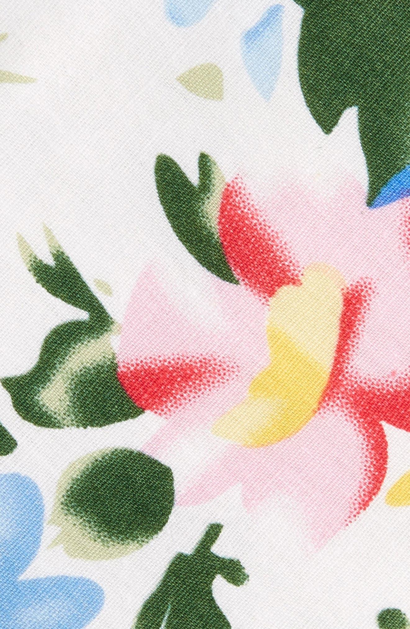 Hatfield Floral Cotton Skinny Tie,                             Alternate thumbnail 2, color,