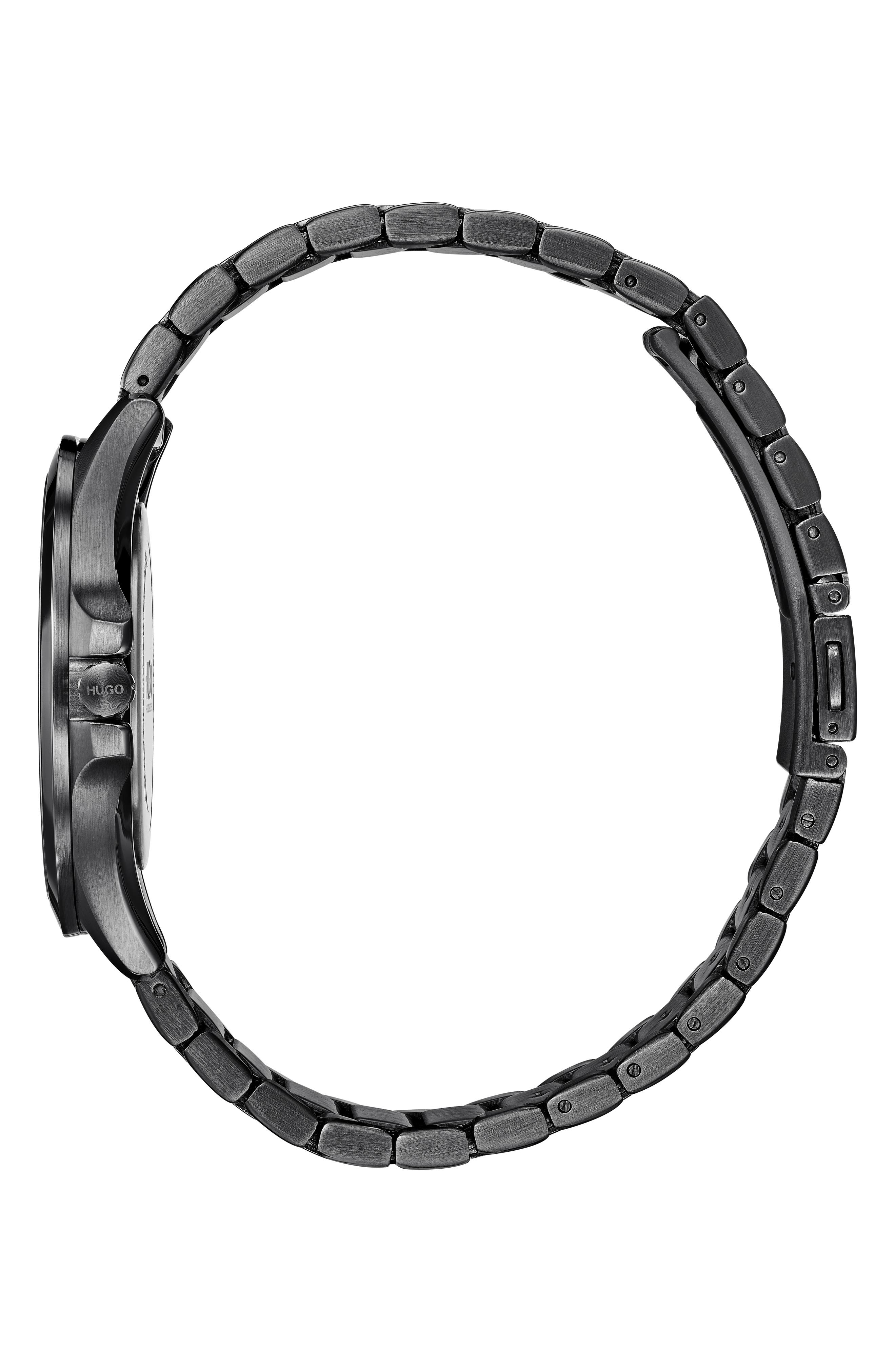 Bracelet Watch, 41mm,                             Alternate thumbnail 3, color,                             BLACK