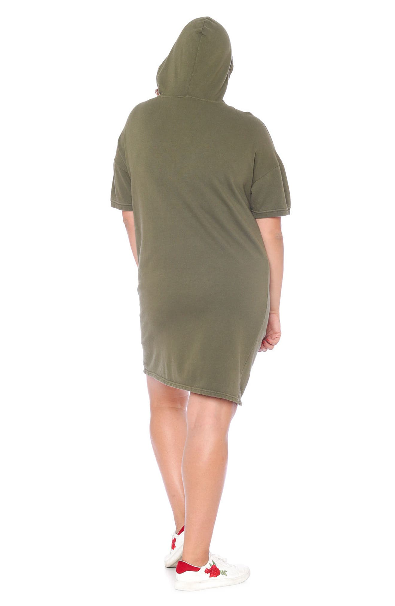 Lace-Up Hoodie Dress,                             Alternate thumbnail 14, color,