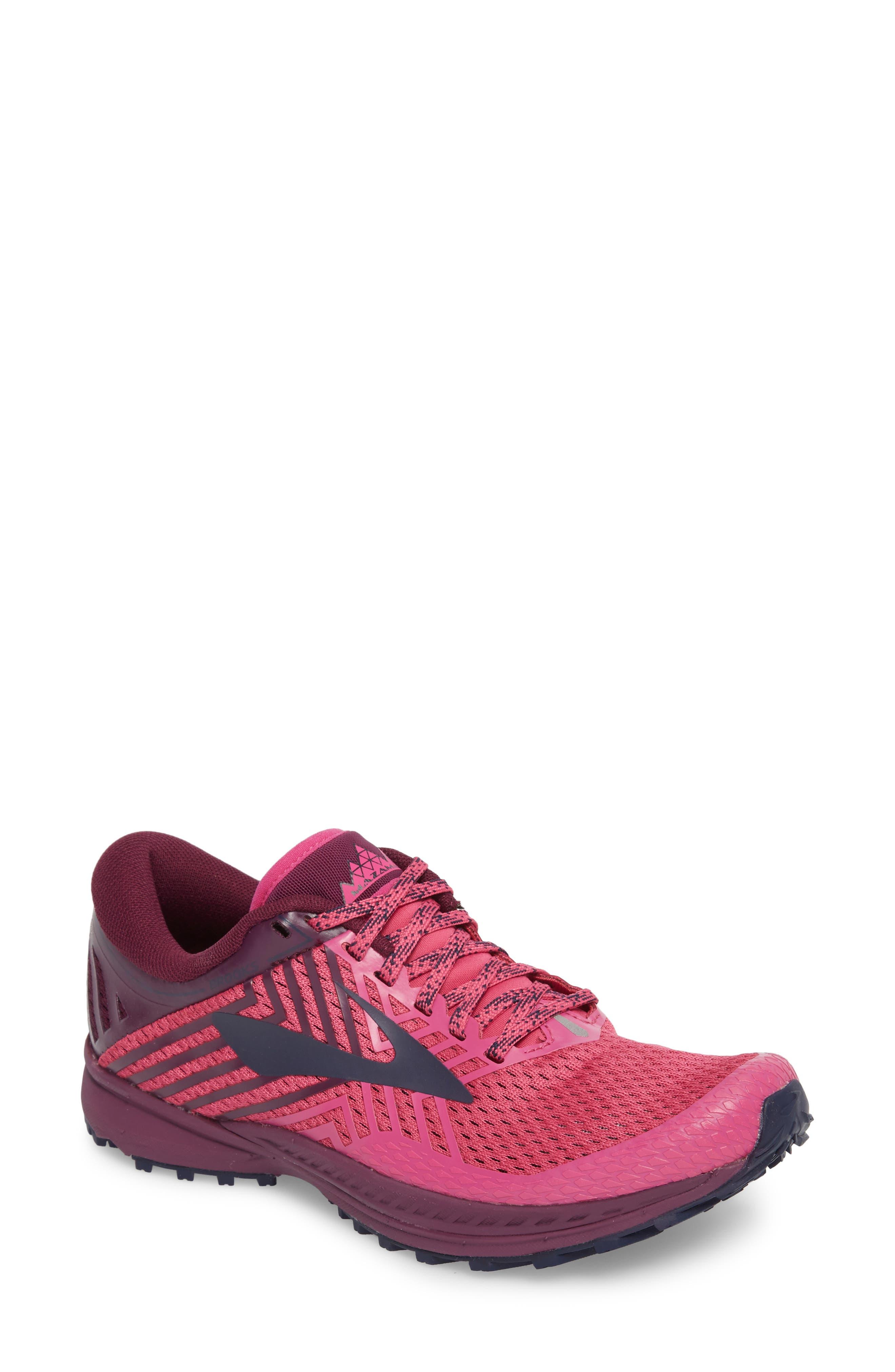 Mazama 2 Trail Running Shoe,                             Main thumbnail 1, color,                             PINK/ PLUM/ NAVY