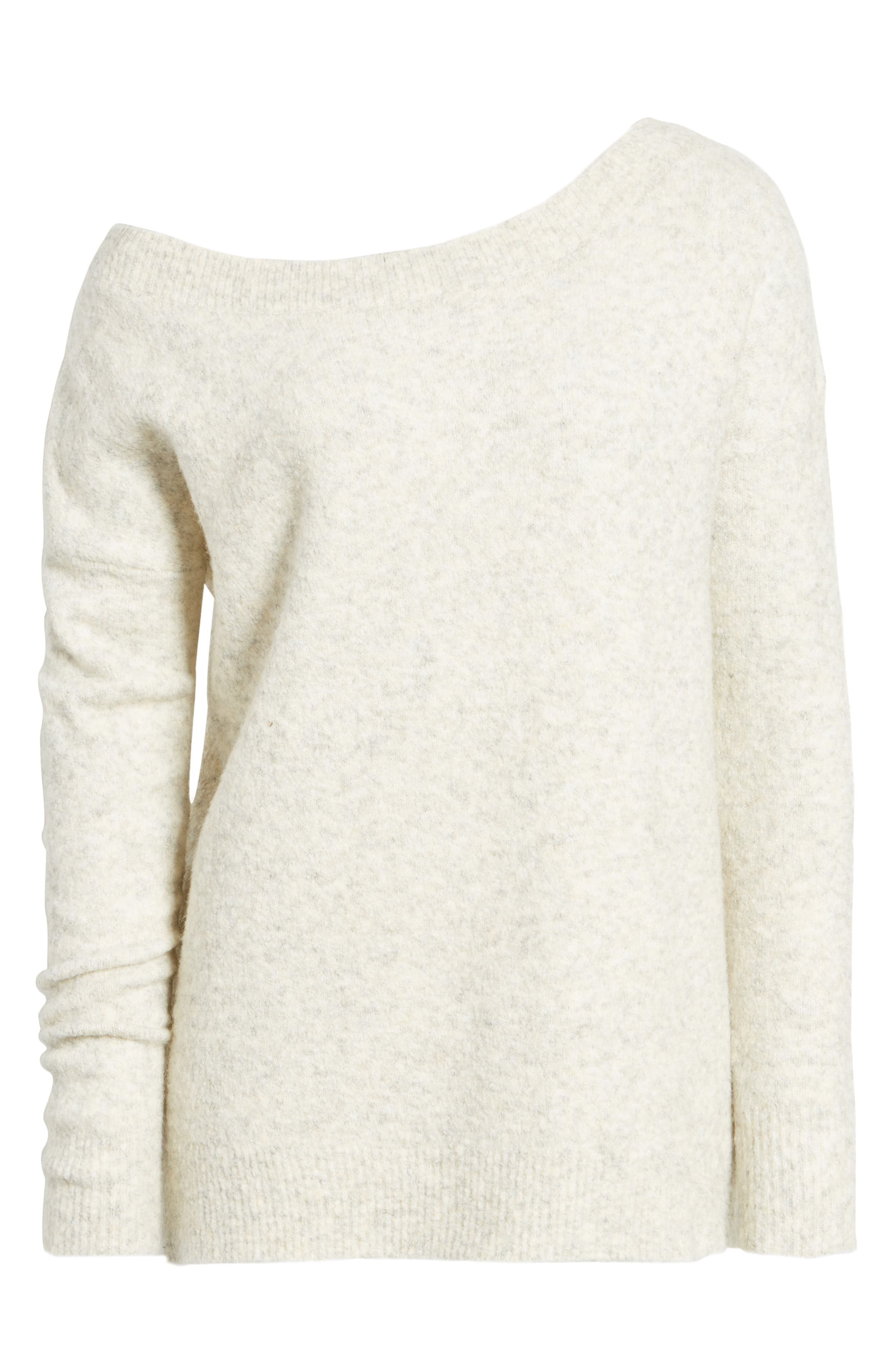 Urban Flossy One-Shoulder Sweater,                             Alternate thumbnail 12, color,