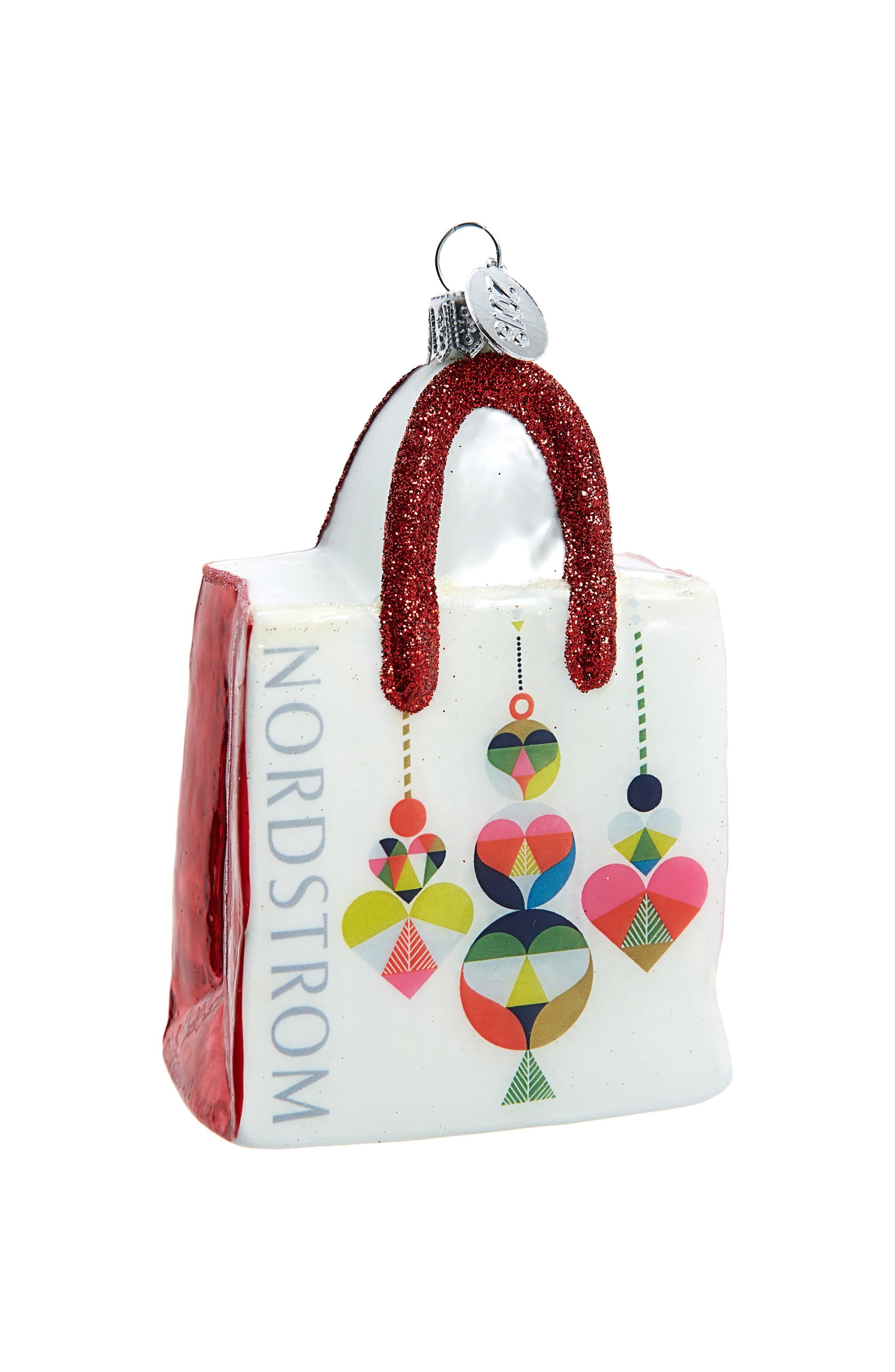 Nordstrom Shopping Bag 2018 Ornament,                             Main thumbnail 1, color,                             100