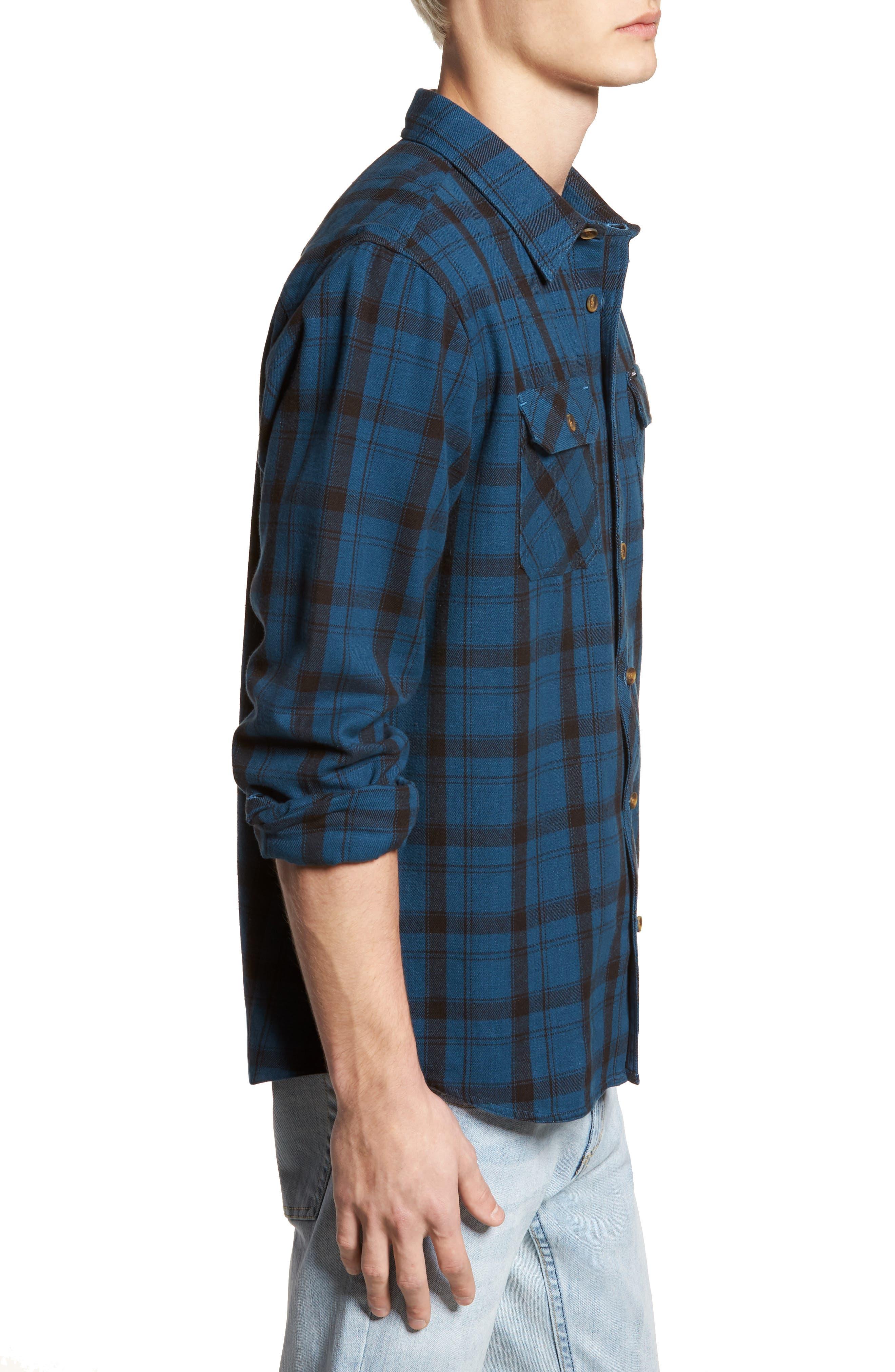 Carpenter Flannel Shirt,                             Alternate thumbnail 9, color,