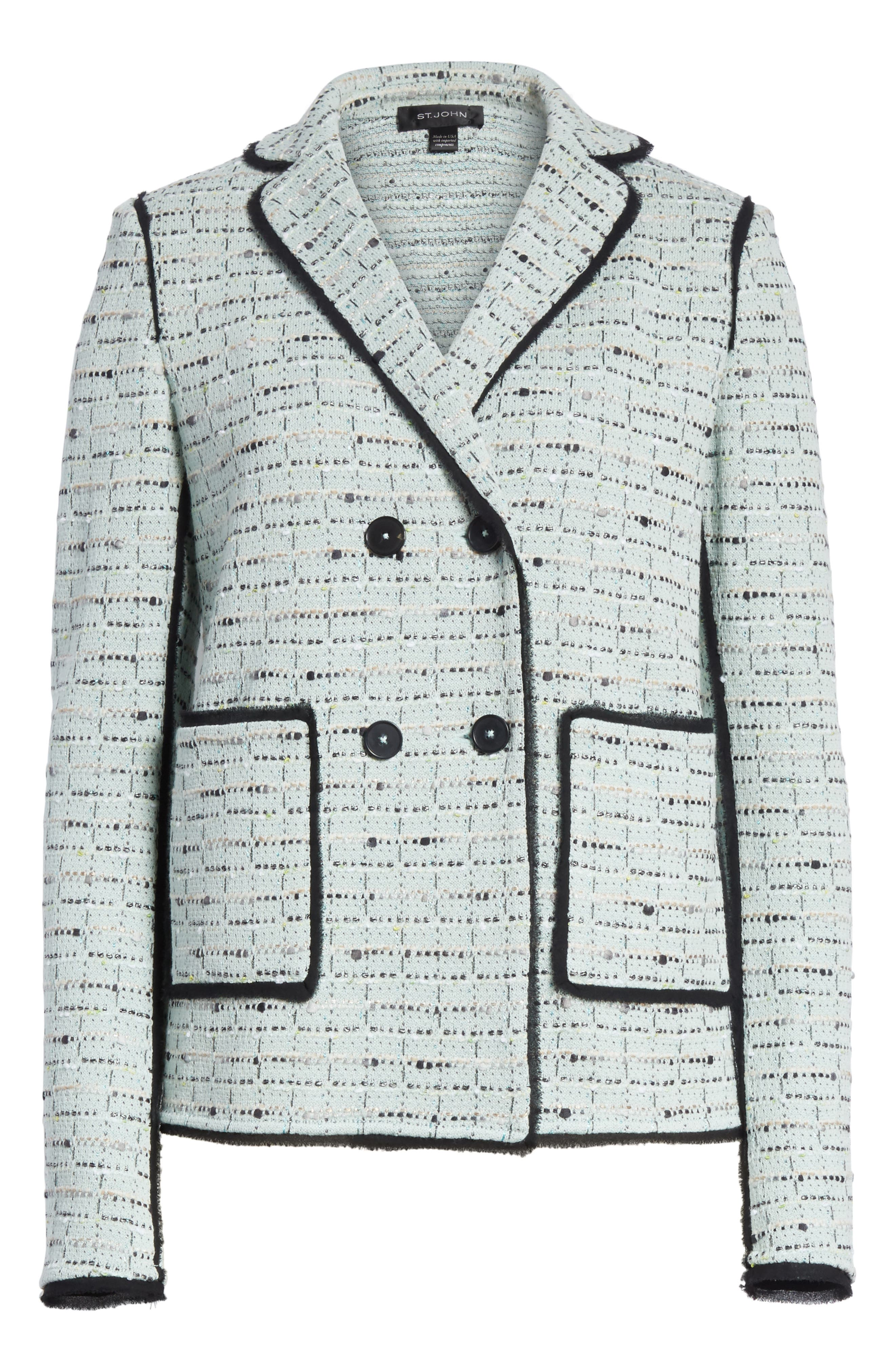 Adriana Tweed Double Breasted Blazer,                             Alternate thumbnail 5, color,                             450