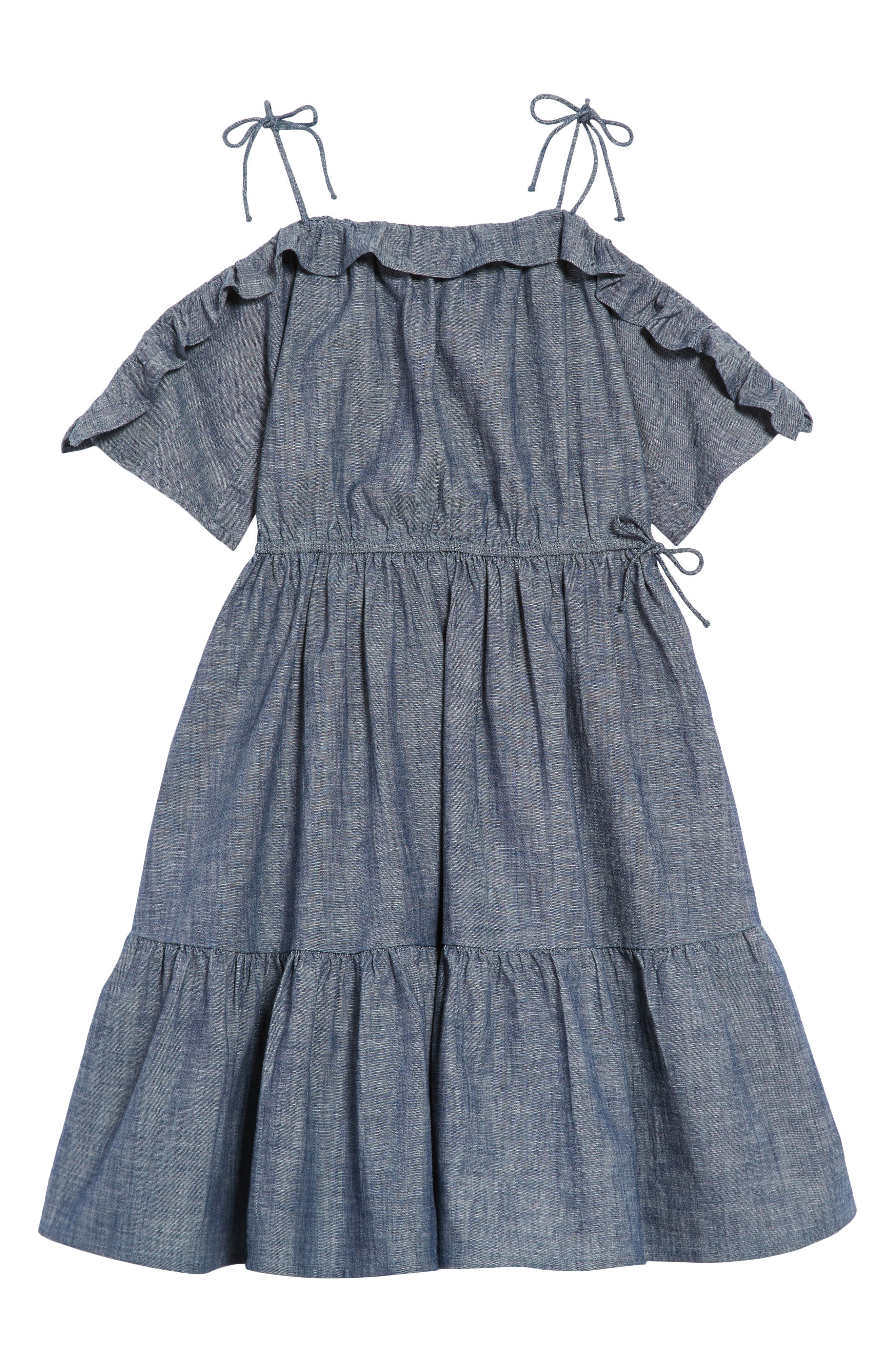 Wes Chambray Dress,                         Main,                         color, 400
