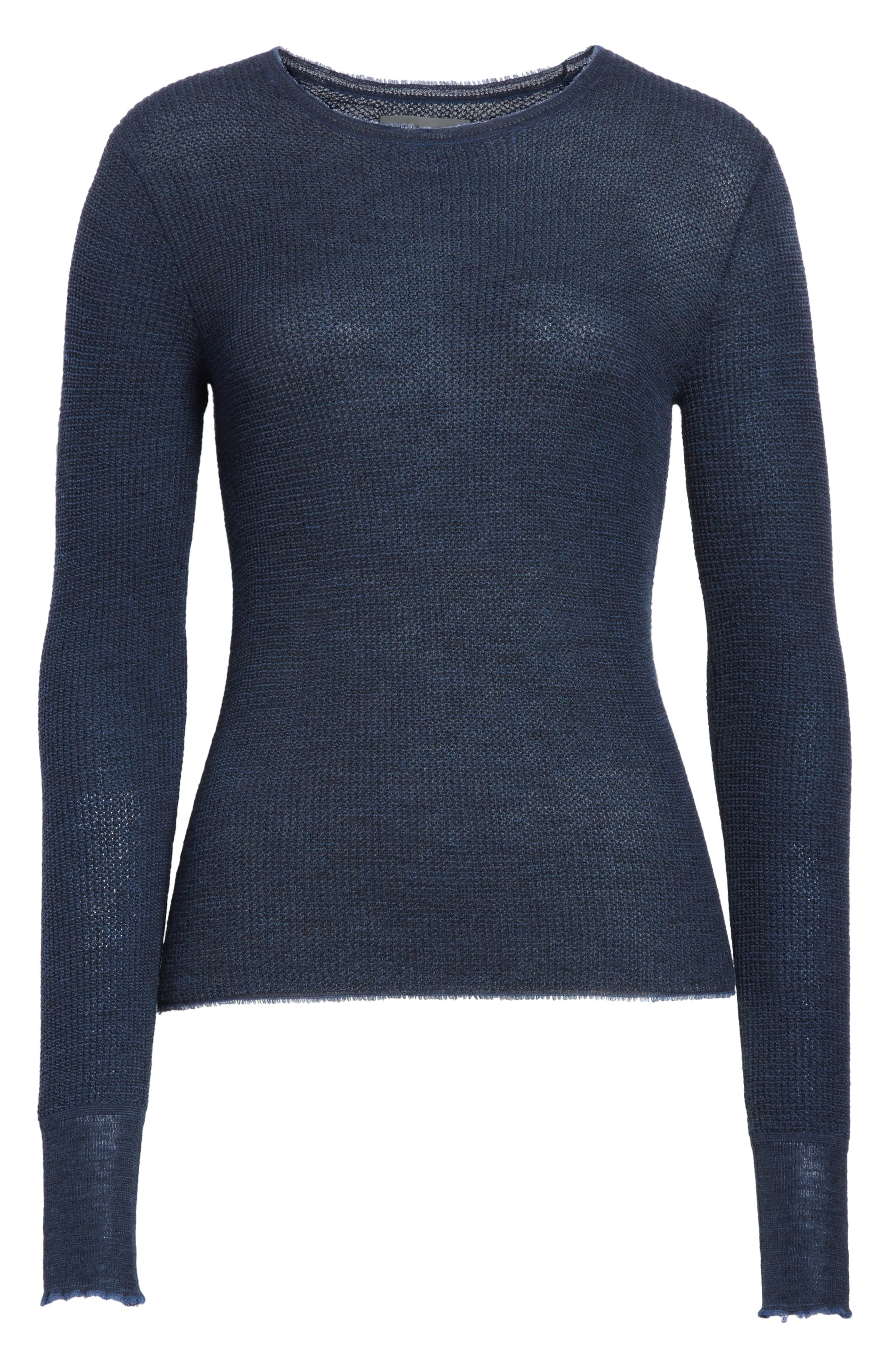 Waffle Knit Wool & Cashmere Top,                             Alternate thumbnail 11, color,
