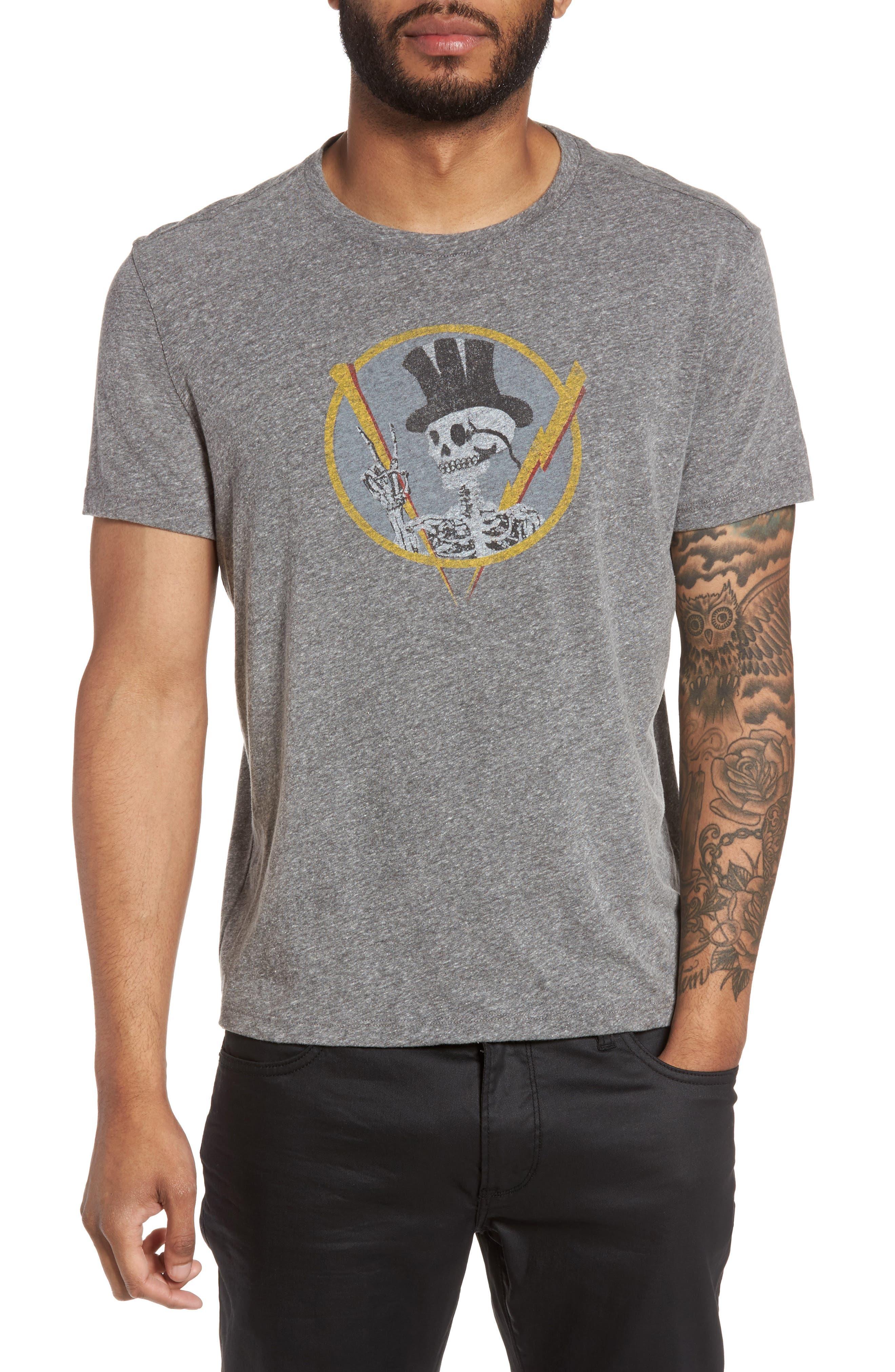 Top Hat Skull Graphic T-Shirt,                             Main thumbnail 1, color,                             073