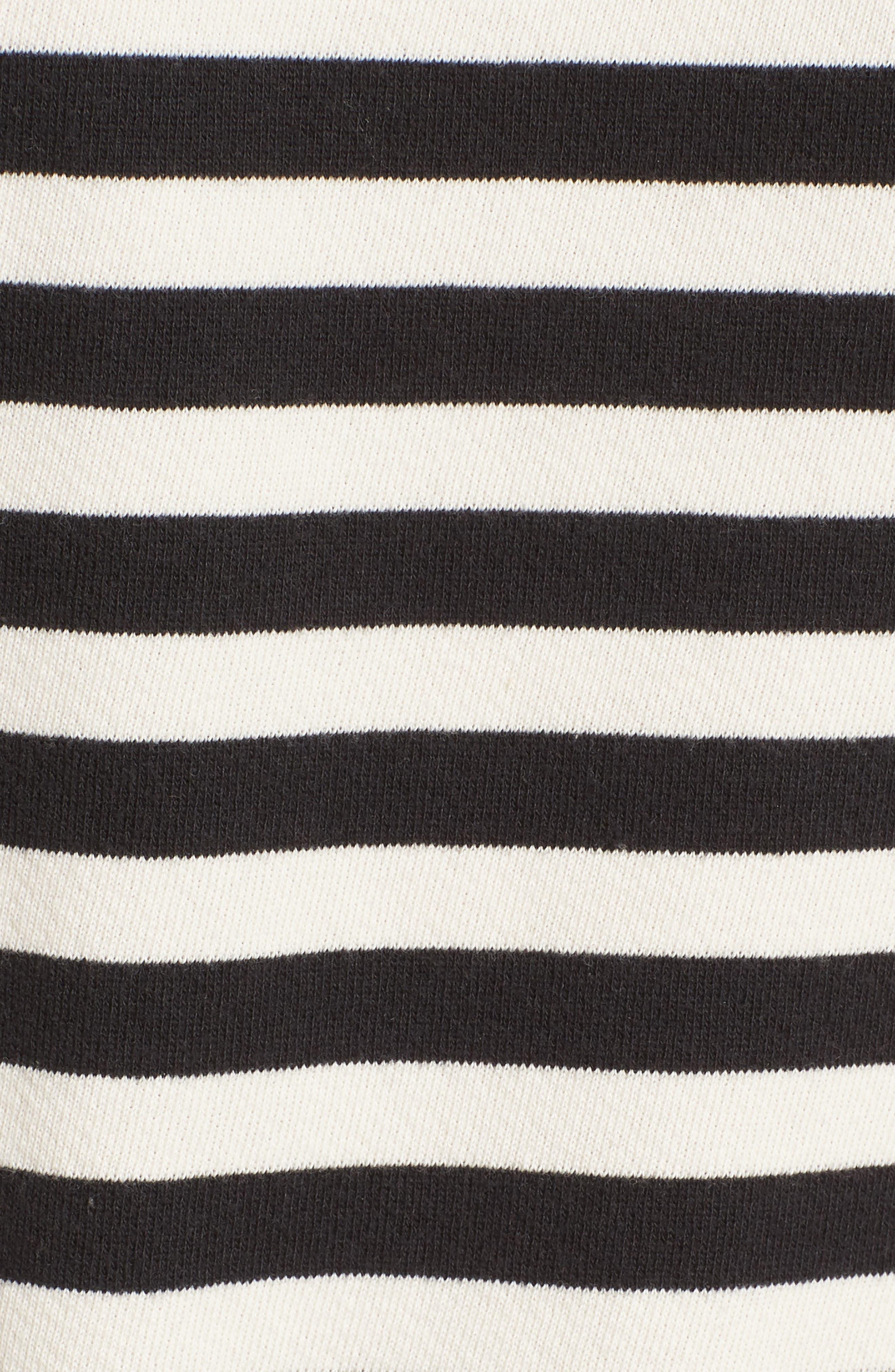 West Village Destroyed Crop Sweatshirt,                             Alternate thumbnail 5, color,                             004