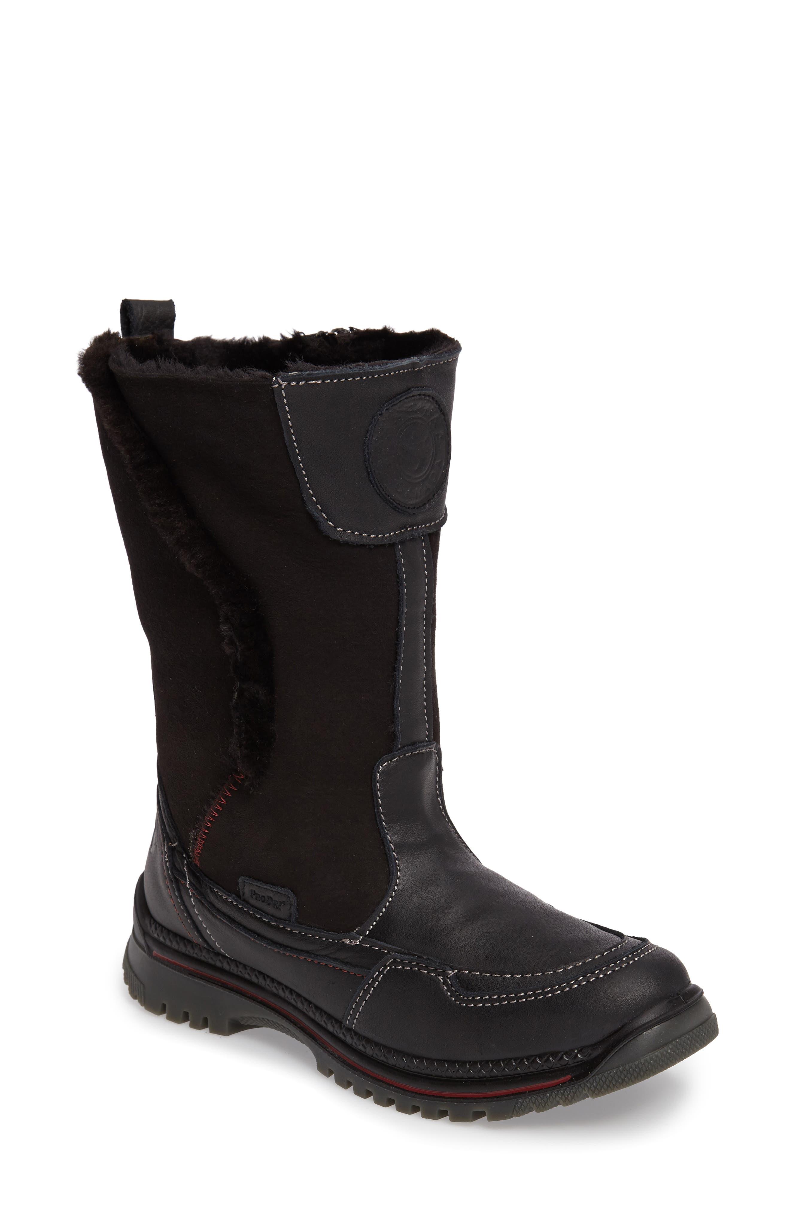 Seraphine Genuine Shearling Waterproof Winter Boot,                             Alternate thumbnail 2, color,                             001