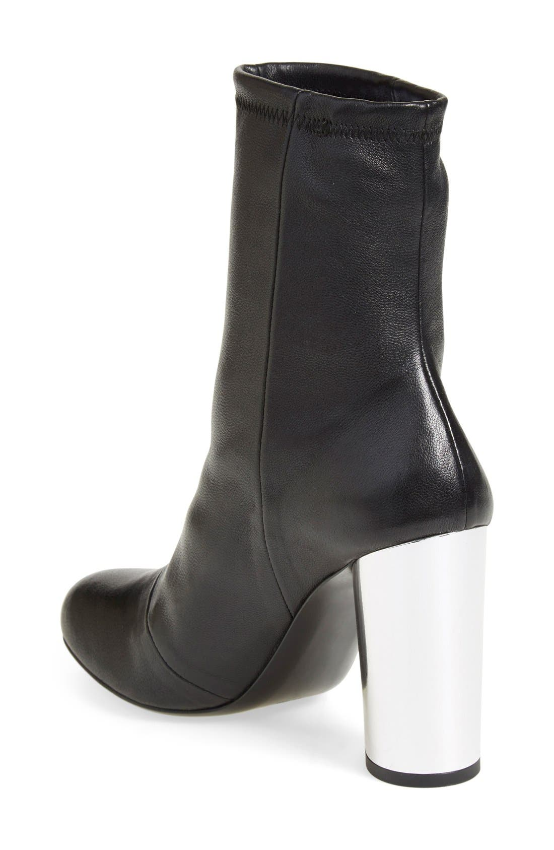 'Zloty' Round Toe Bootie,                             Alternate thumbnail 3, color,                             002