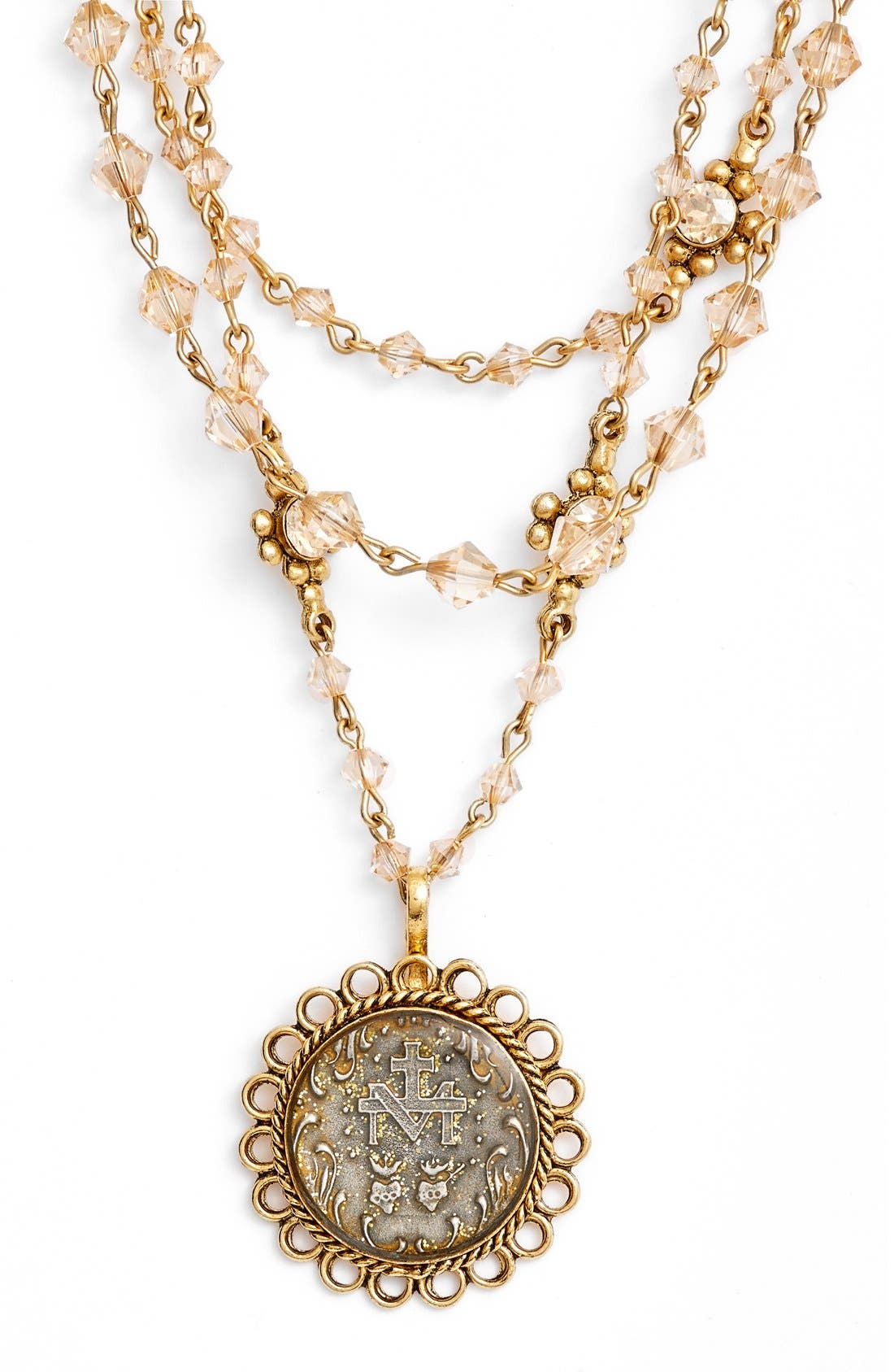 VIRGINS SAINTS & ANGELS,                             'Magdalena - San Benito' Necklace,                             Alternate thumbnail 3, color,                             710