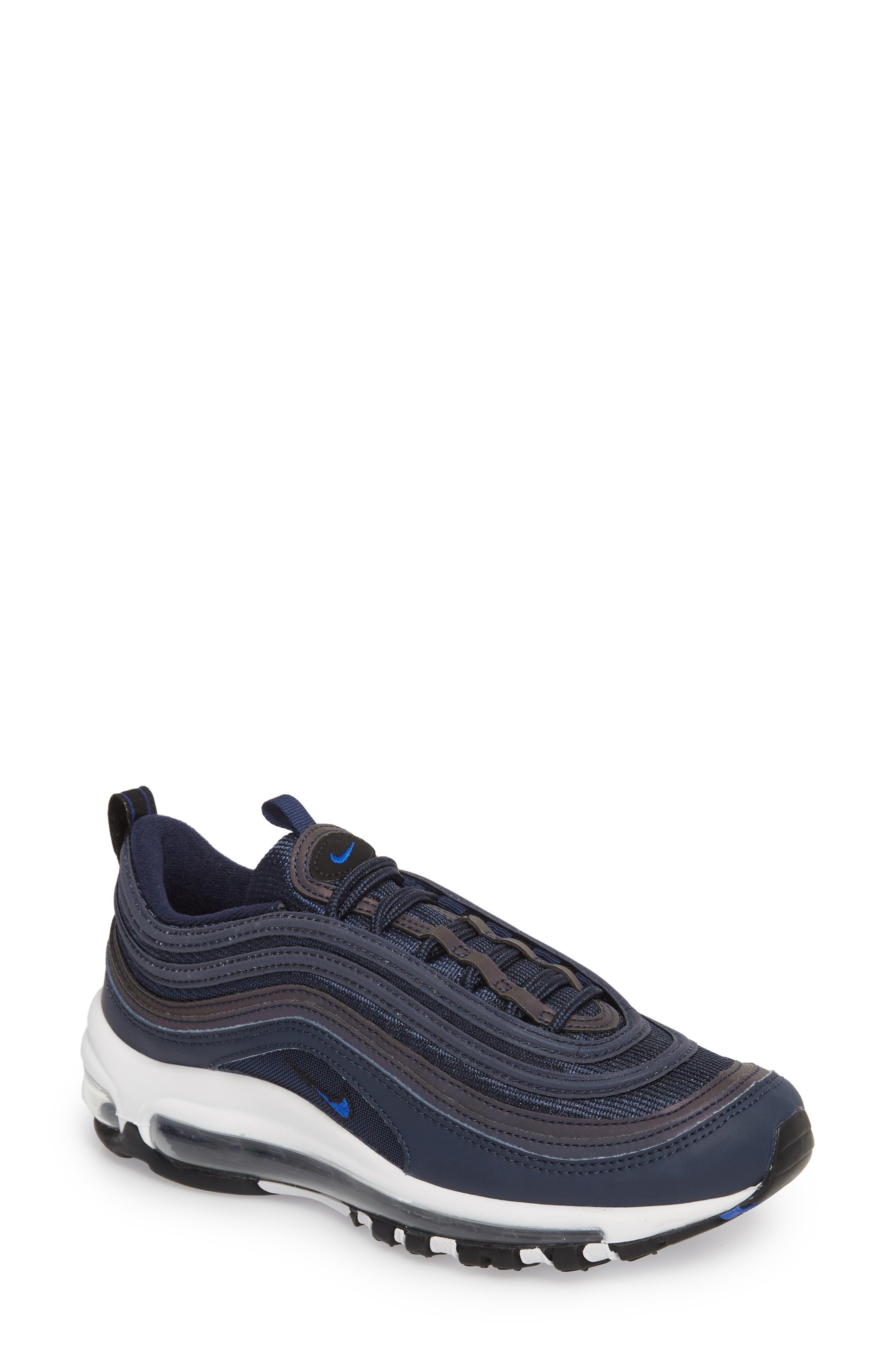 Air Max 97 Sneaker,                         Main,                         color, OBSIDIAN/ WHITE/ BLACK