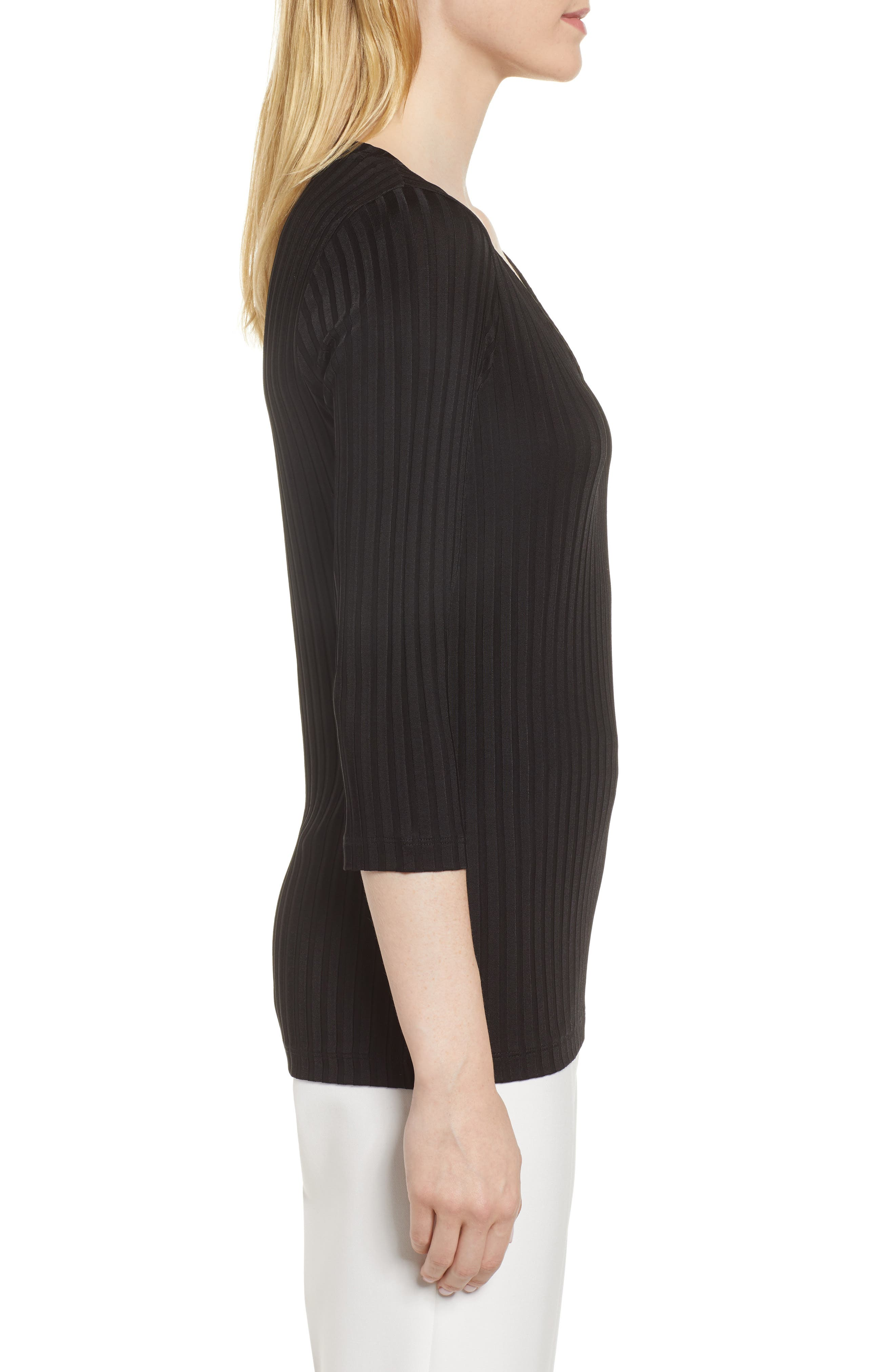 Etrica Ribbed Sweater,                             Alternate thumbnail 3, color,                             001