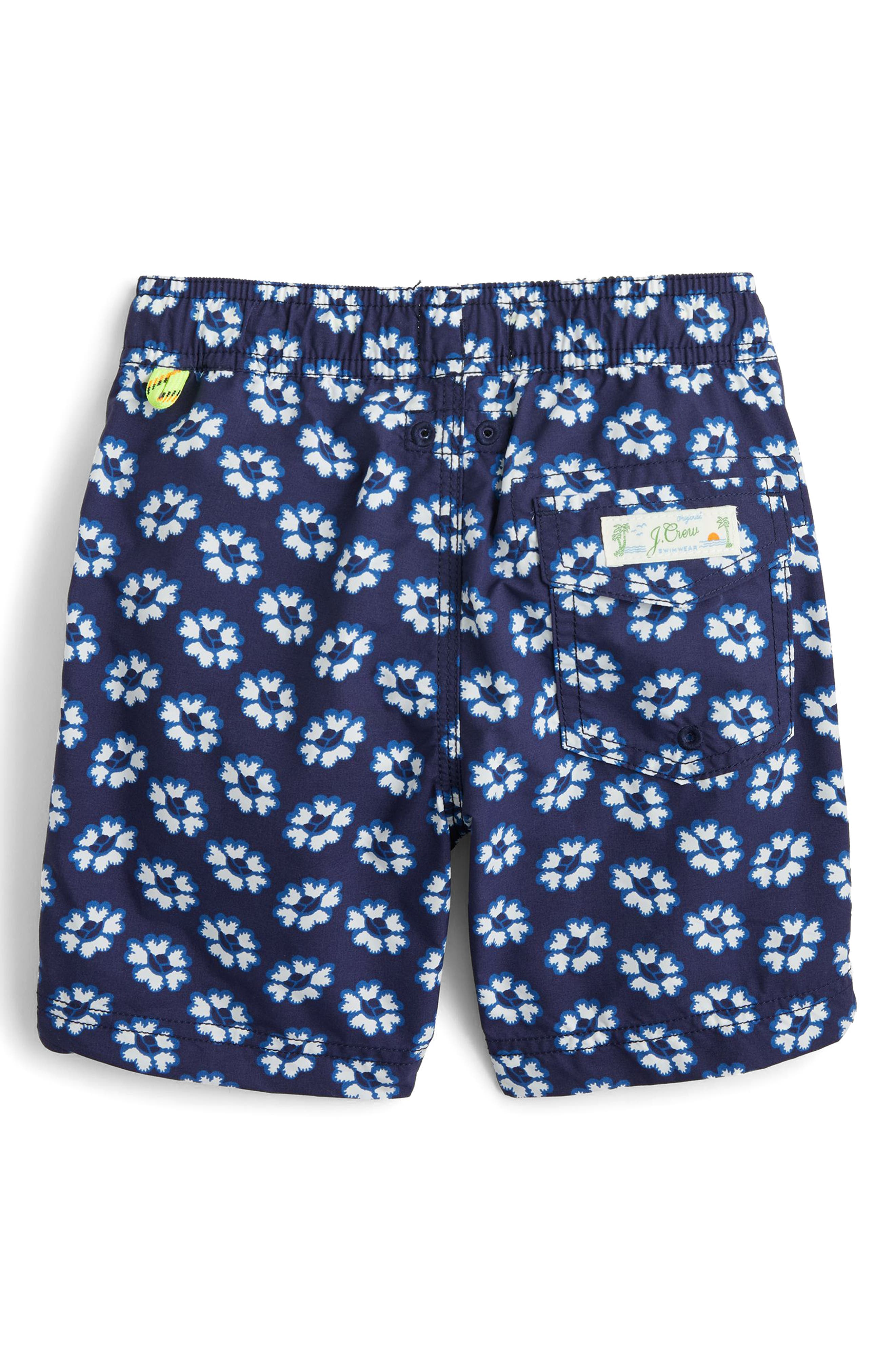 Blurry Flowers Swim Trunks,                             Alternate thumbnail 2, color,                             400