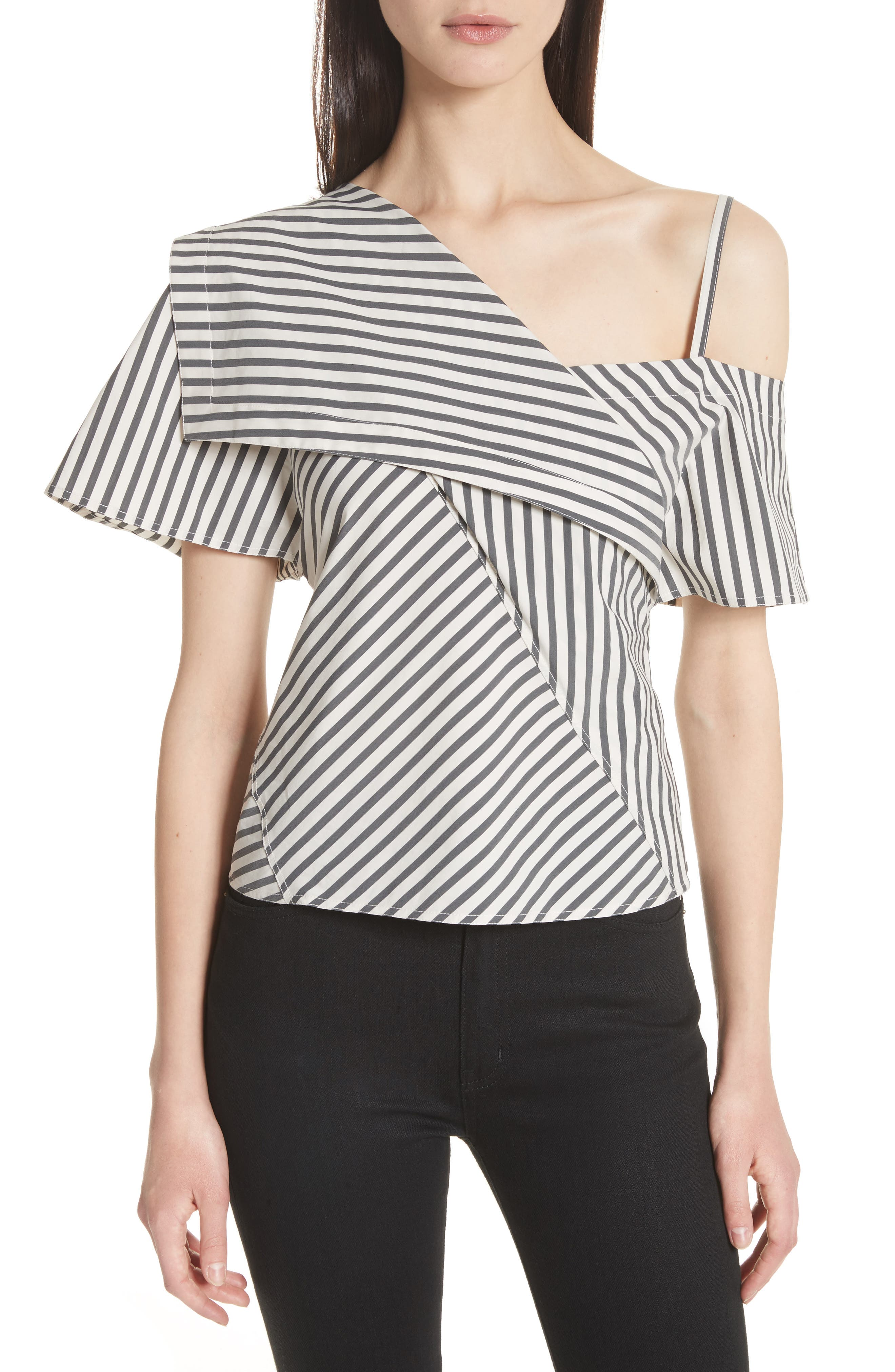 Brys Stripe Foldover Top,                         Main,                         color, 002