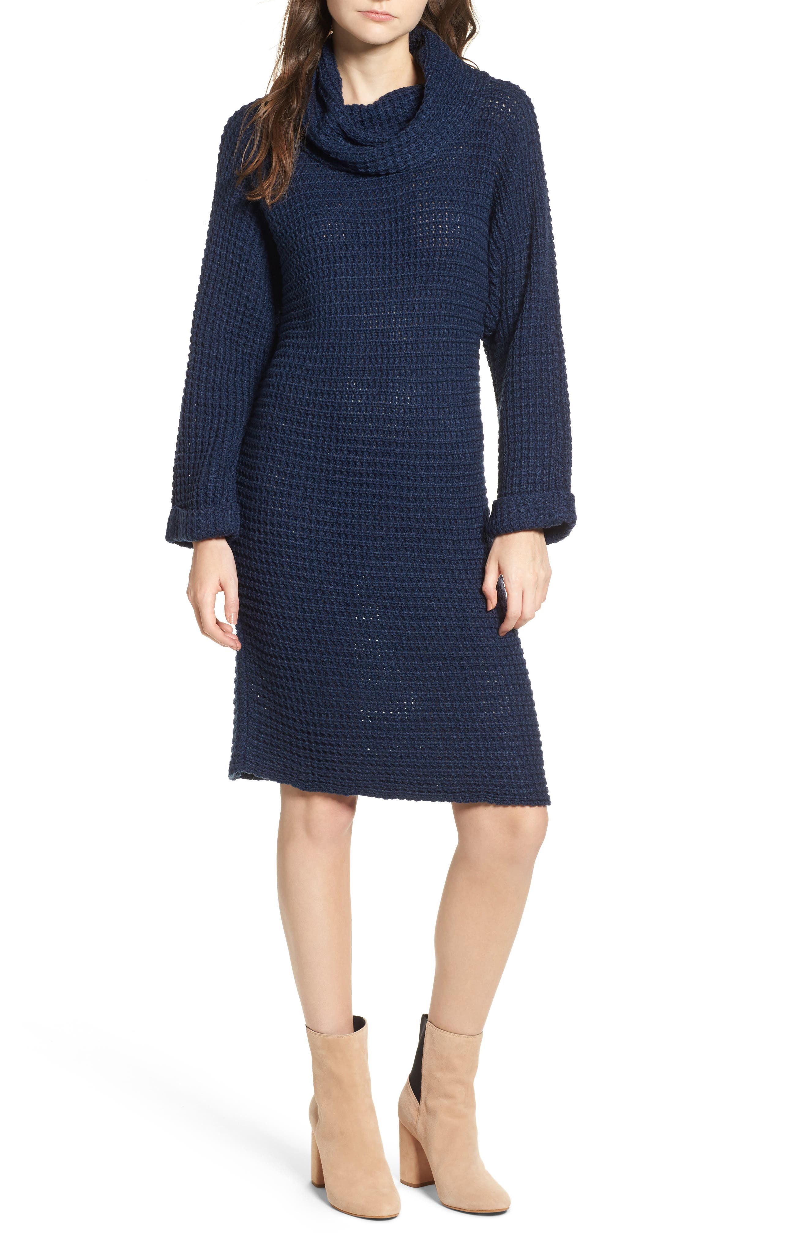 Turtleneck Sweater Dress,                             Main thumbnail 1, color,