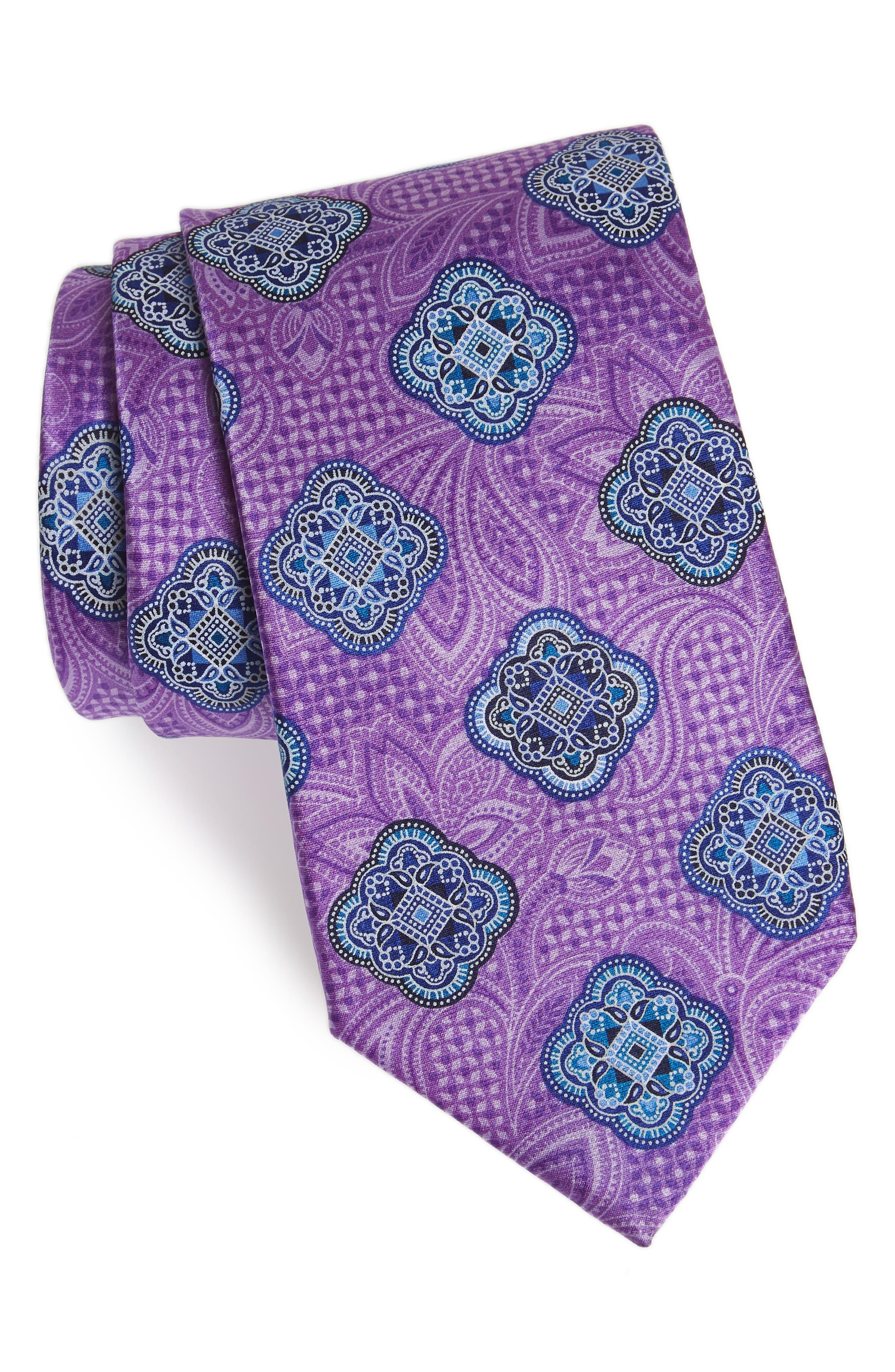 Delpy Medallion Silk Tie,                         Main,                         color, 500