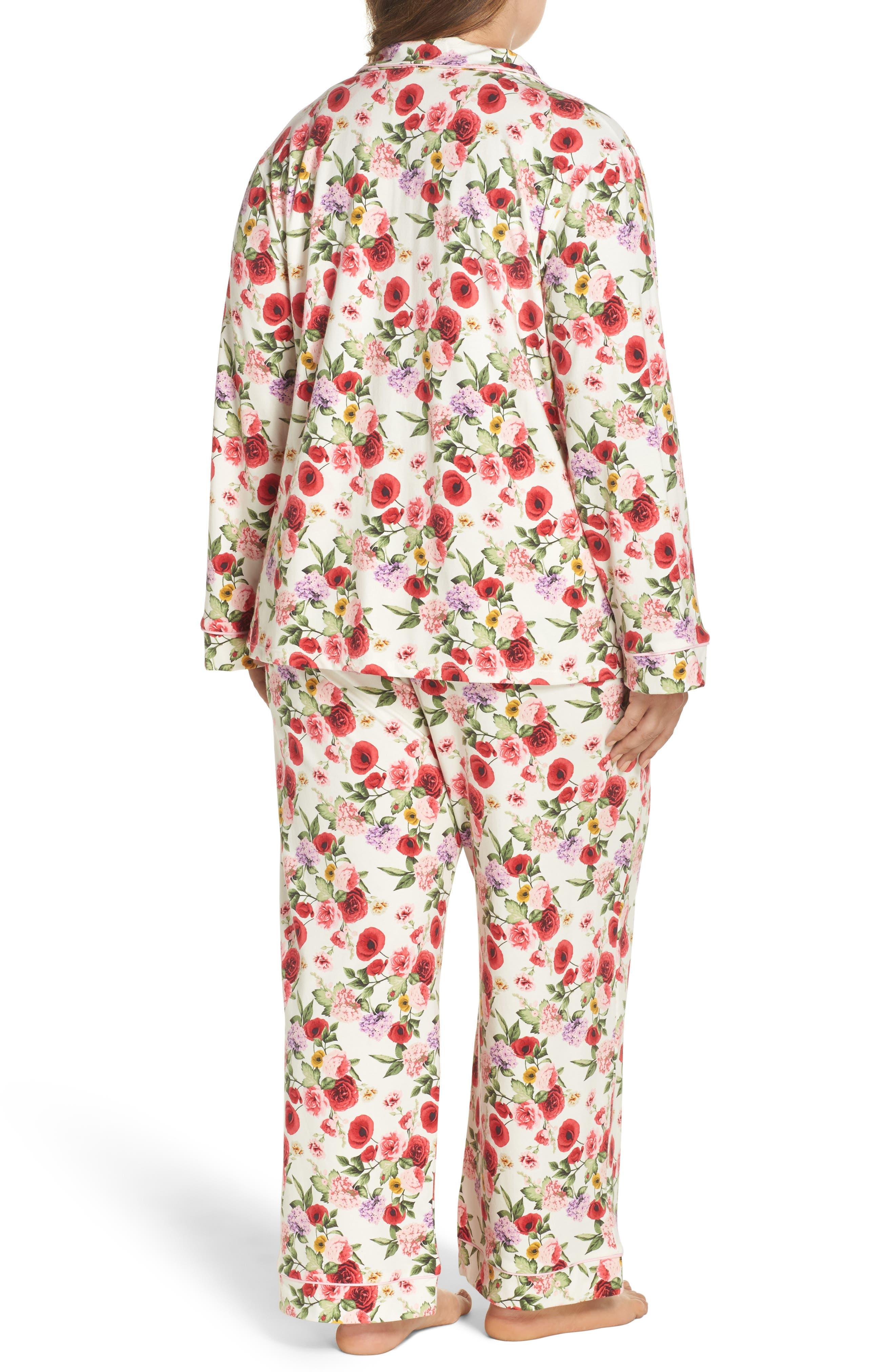 Flower Print Pajamas,                             Alternate thumbnail 2, color,