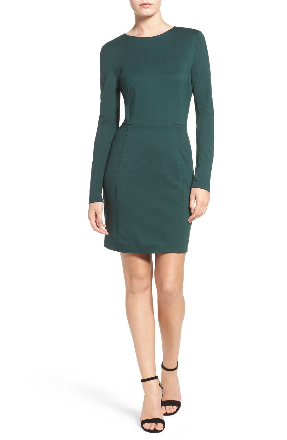 Lula Stretch Sheath Dress,                             Alternate thumbnail 9, color,