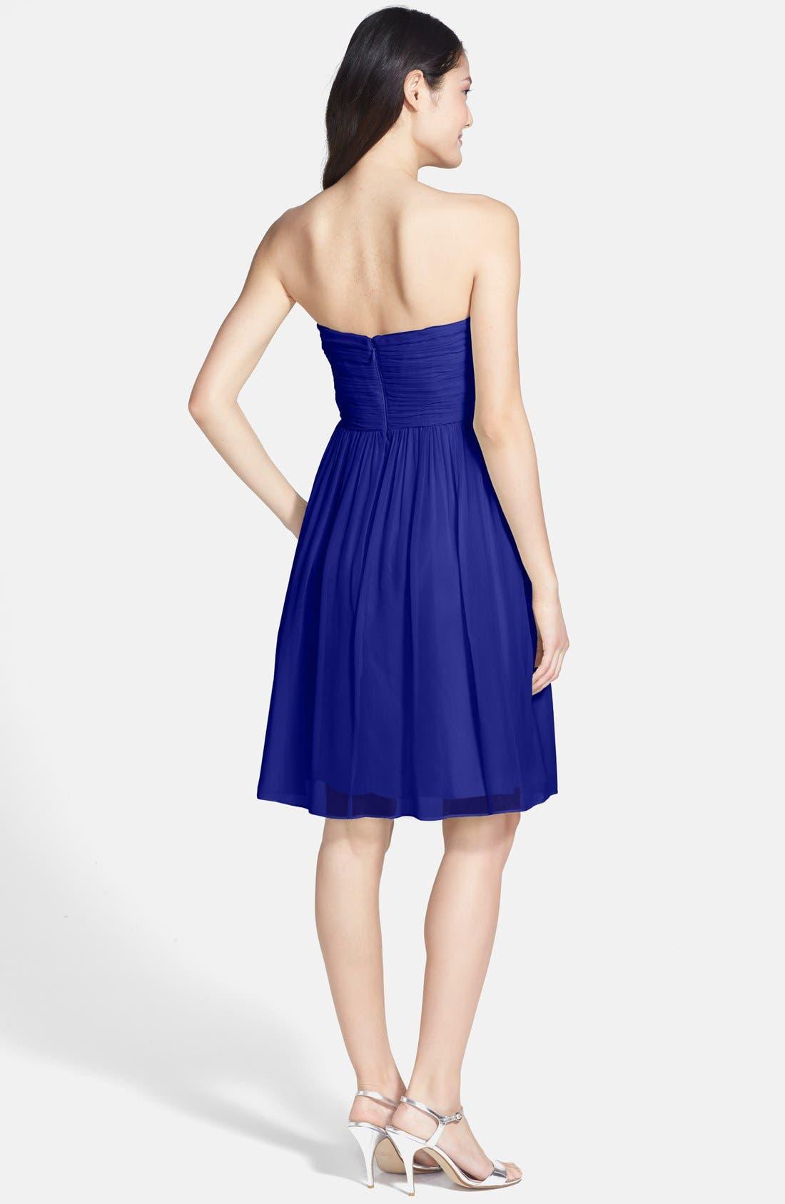 'Morgan' Strapless Silk Chiffon Dress,                             Alternate thumbnail 85, color,