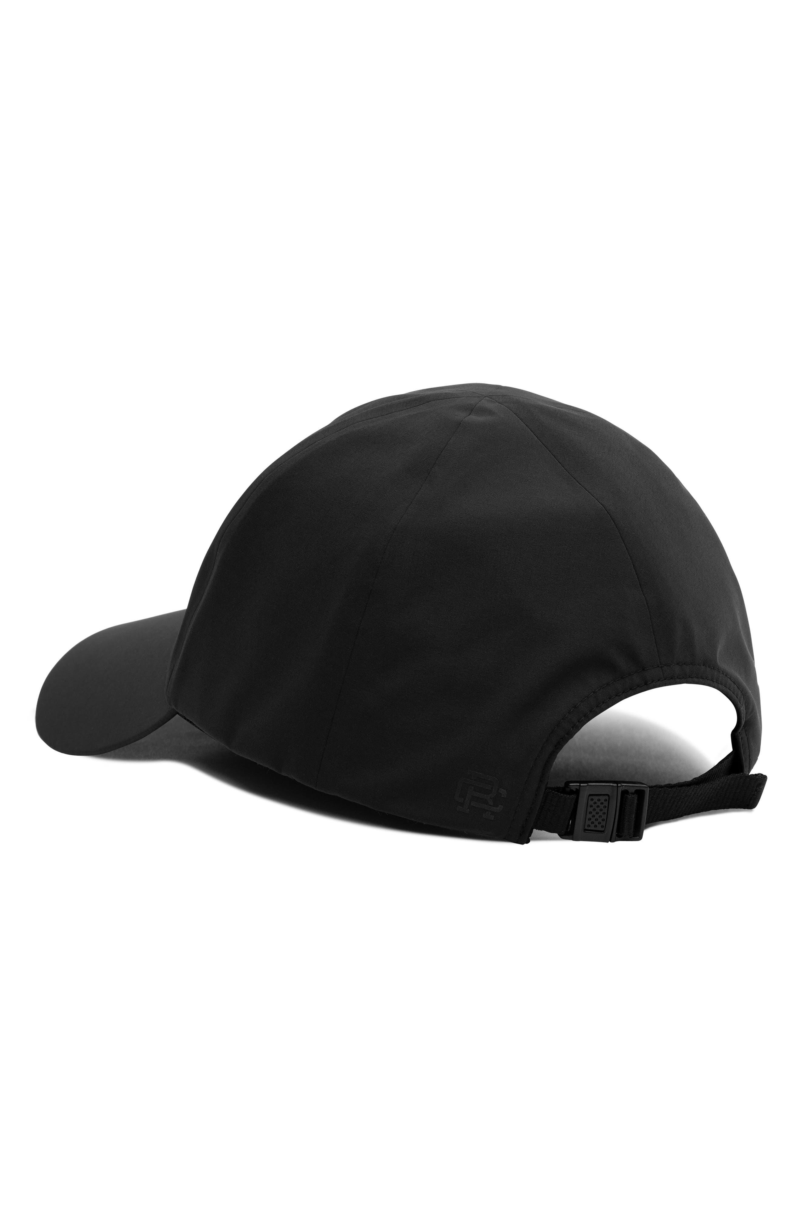 Waterproof Nylon Ball Cap,                             Alternate thumbnail 3, color,                             BLACK