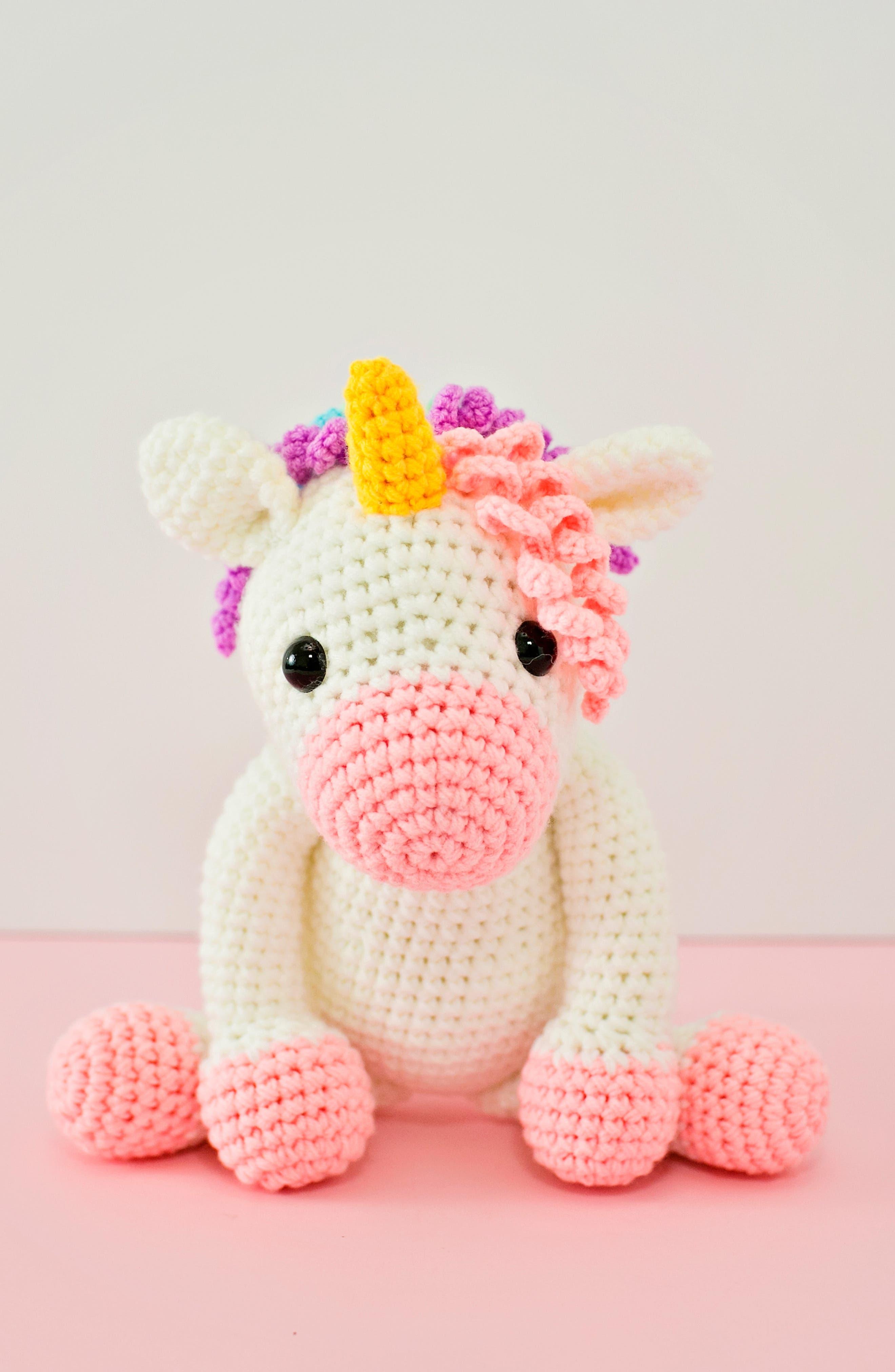 Twinks Crochet Unicorn Doll,                             Alternate thumbnail 4, color,                             WHITE/ MULTI
