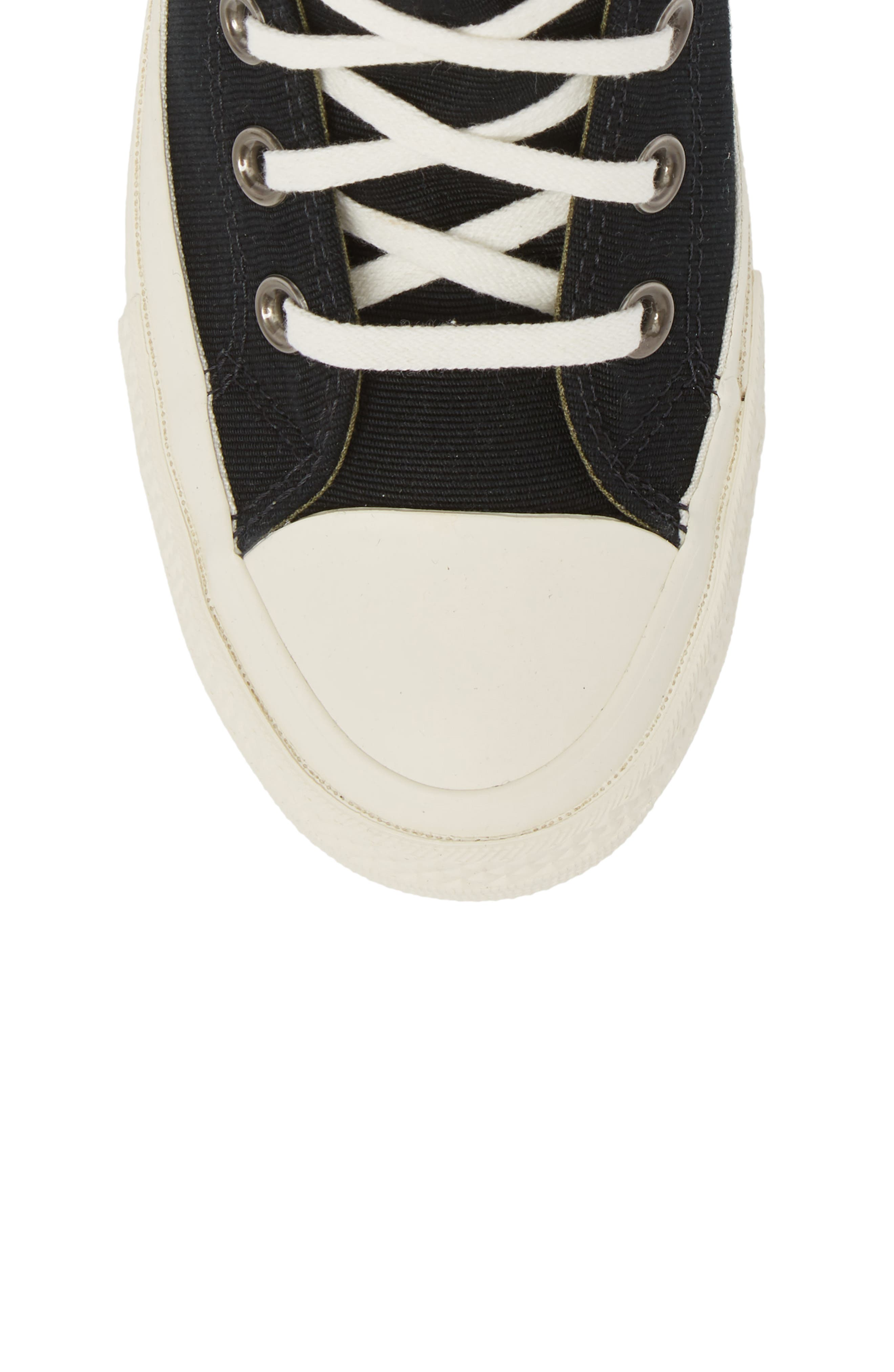 Chuck Taylor<sup>®</sup> All Star<sup>®</sup> Ripple High Top Sneaker,                             Alternate thumbnail 5, color,                             001