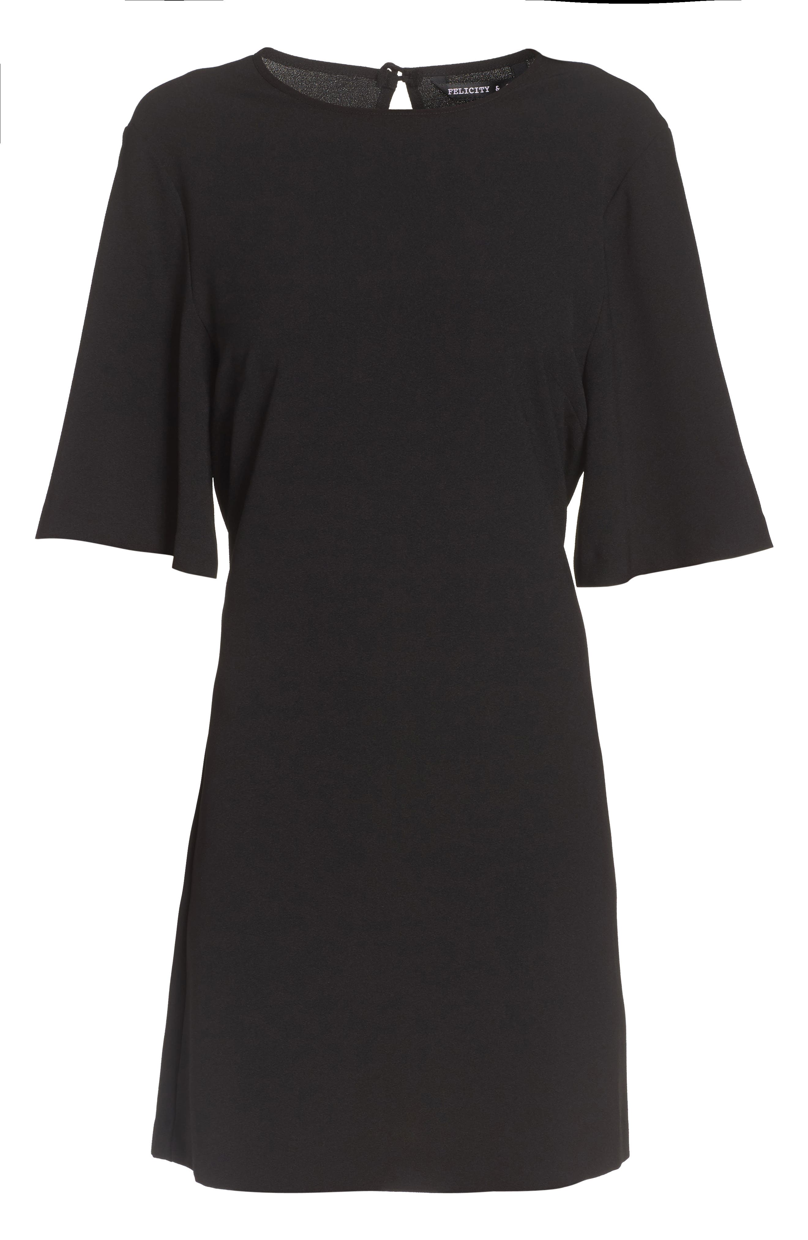 Dara Shift Dress,                             Alternate thumbnail 8, color,                             BLACK