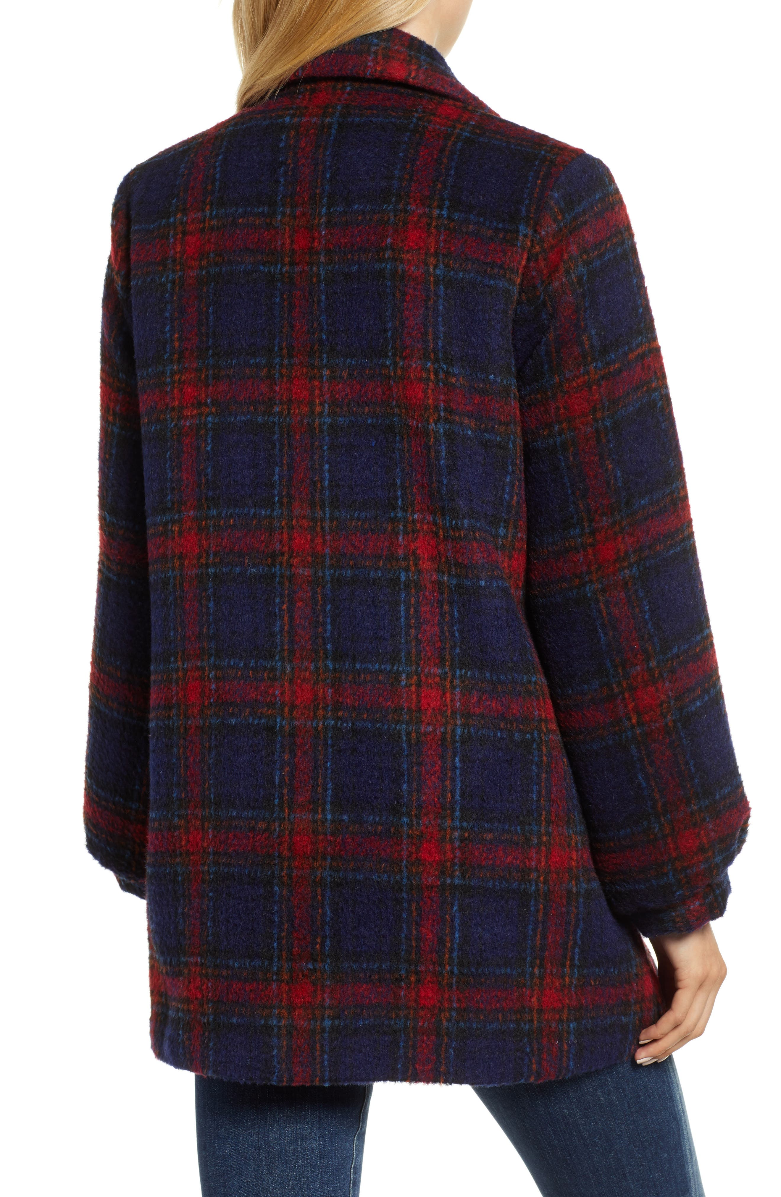 Plaid Wool Blend Jacket,                             Alternate thumbnail 2, color,                             MULTI