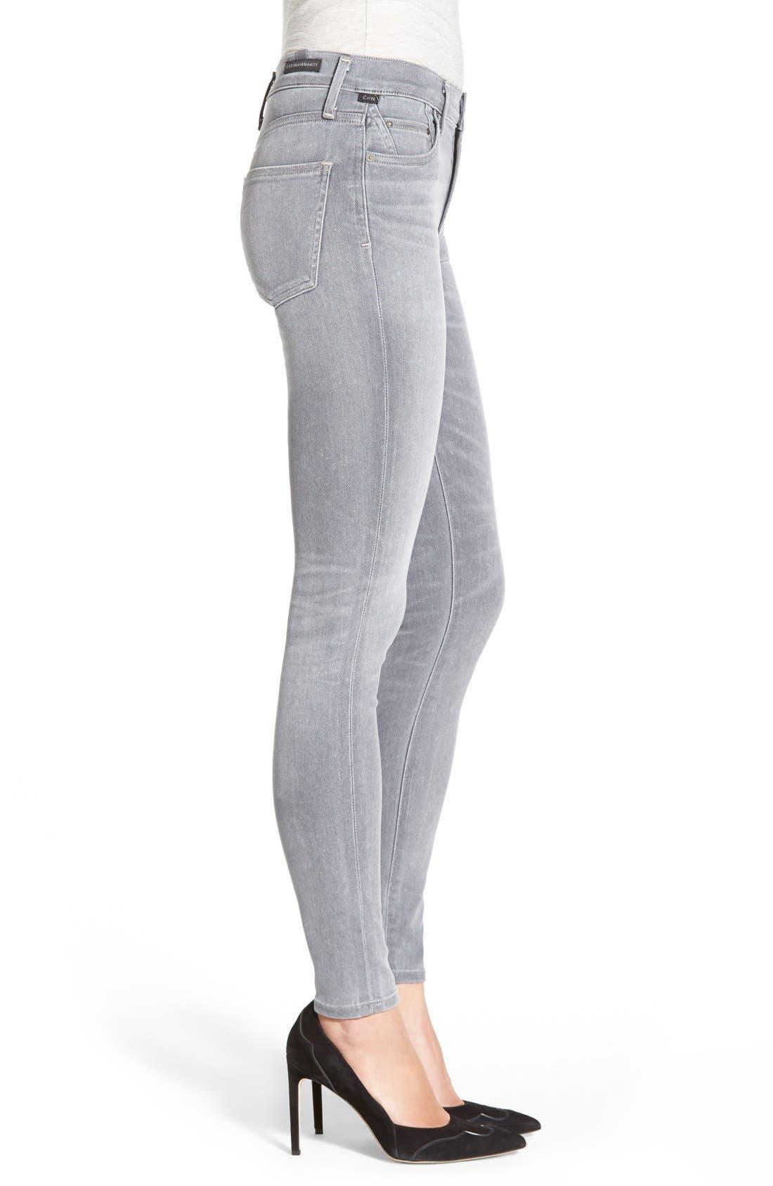 'Sculpt - Rocket' High Rise Skinny Jeans,                             Alternate thumbnail 4, color,                             078