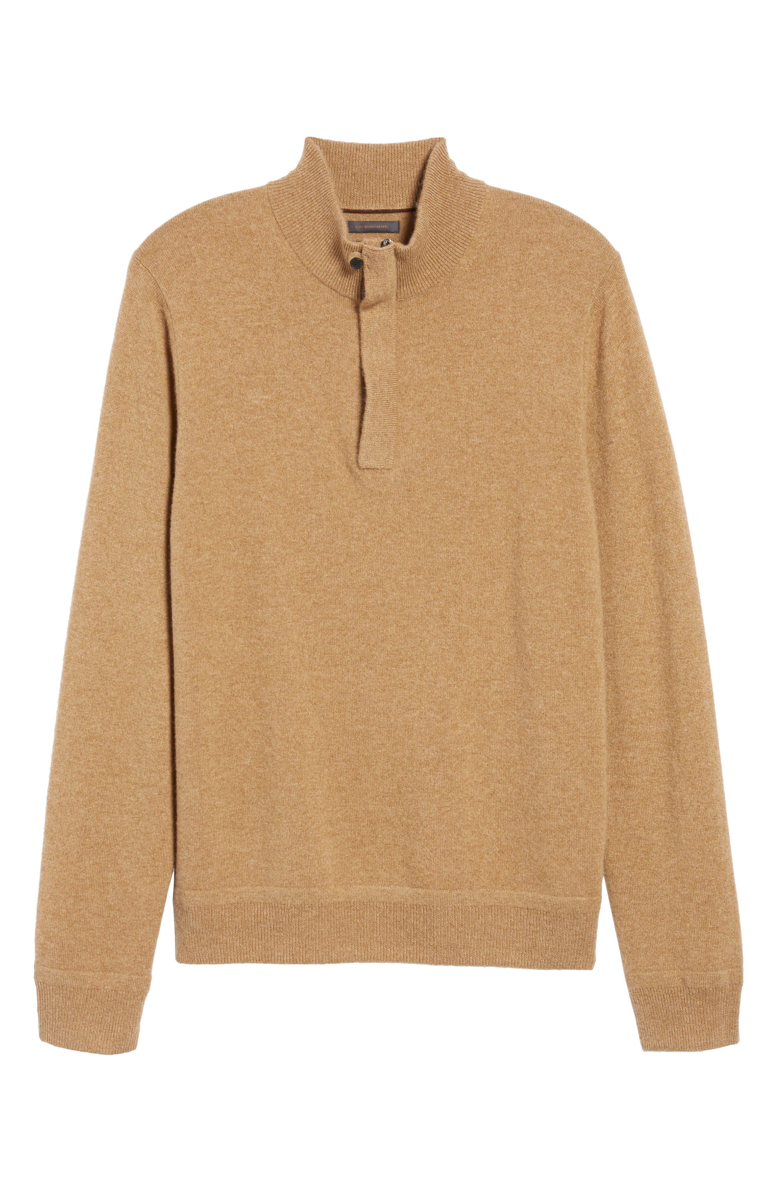 Cashmere Quarter Zip Sweater,                             Alternate thumbnail 33, color,