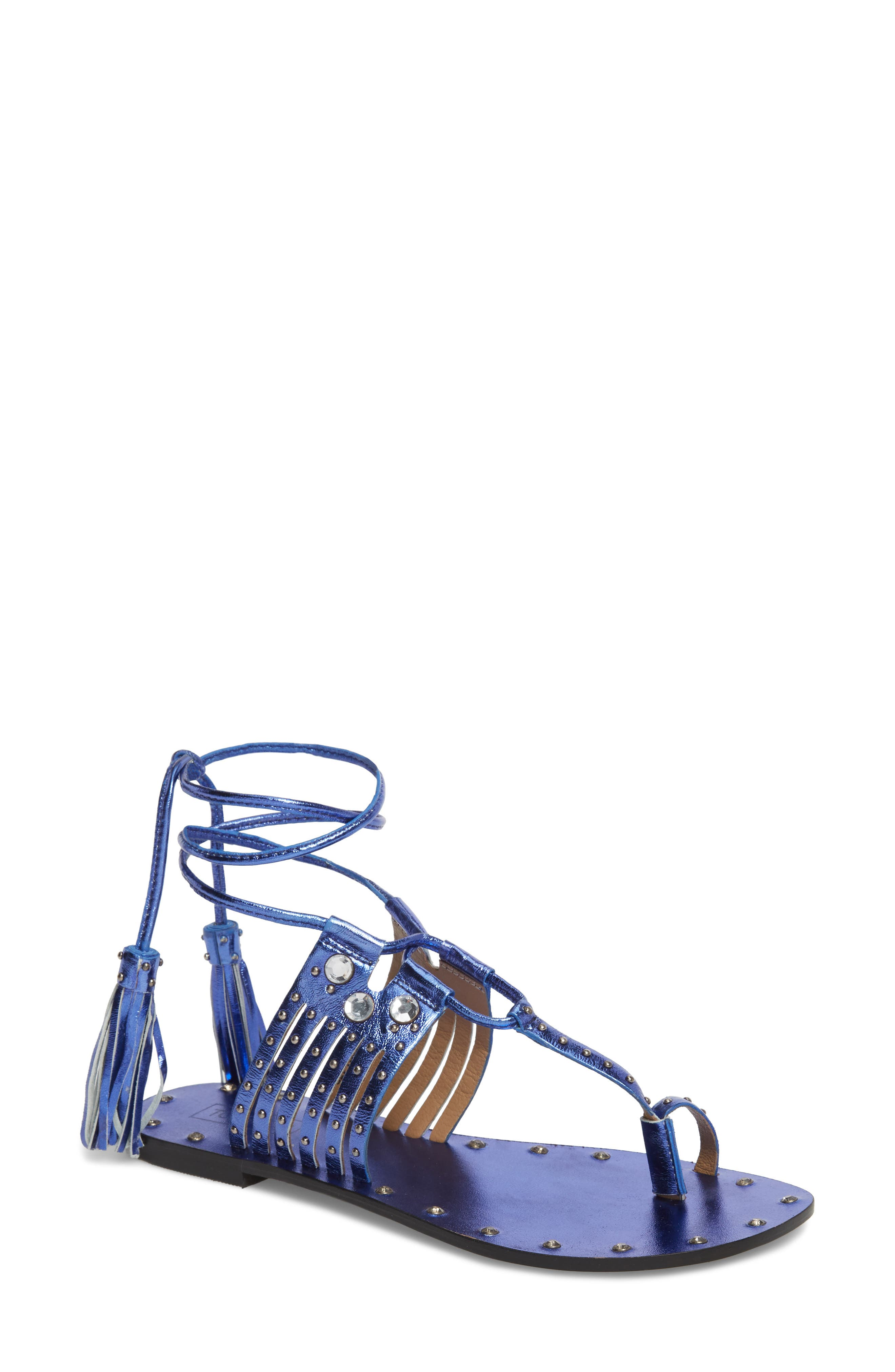 Fay Embellished Wraparound Sandal,                             Main thumbnail 2, color,