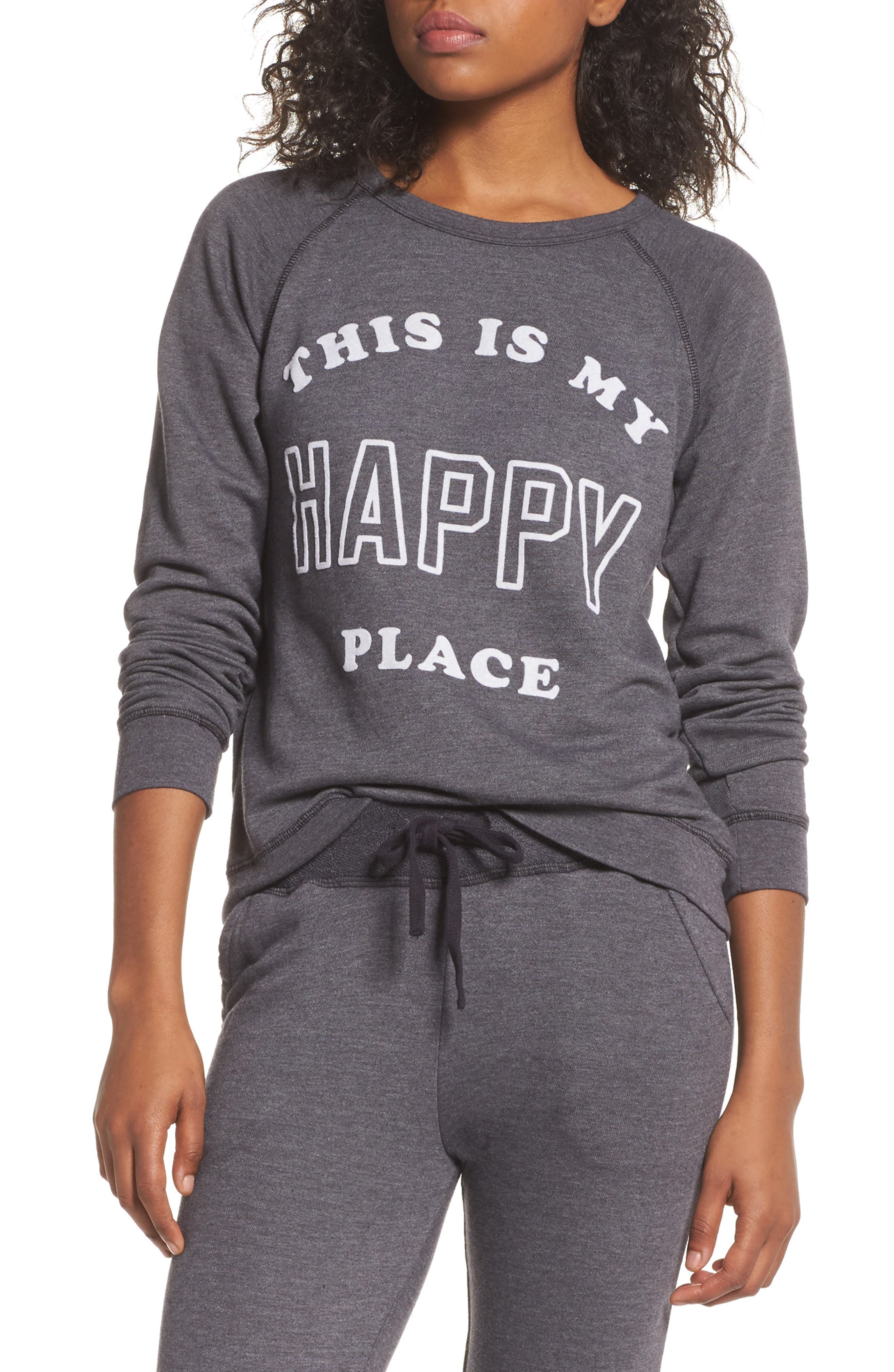 Happy Place Sweatshirt,                             Main thumbnail 1, color,