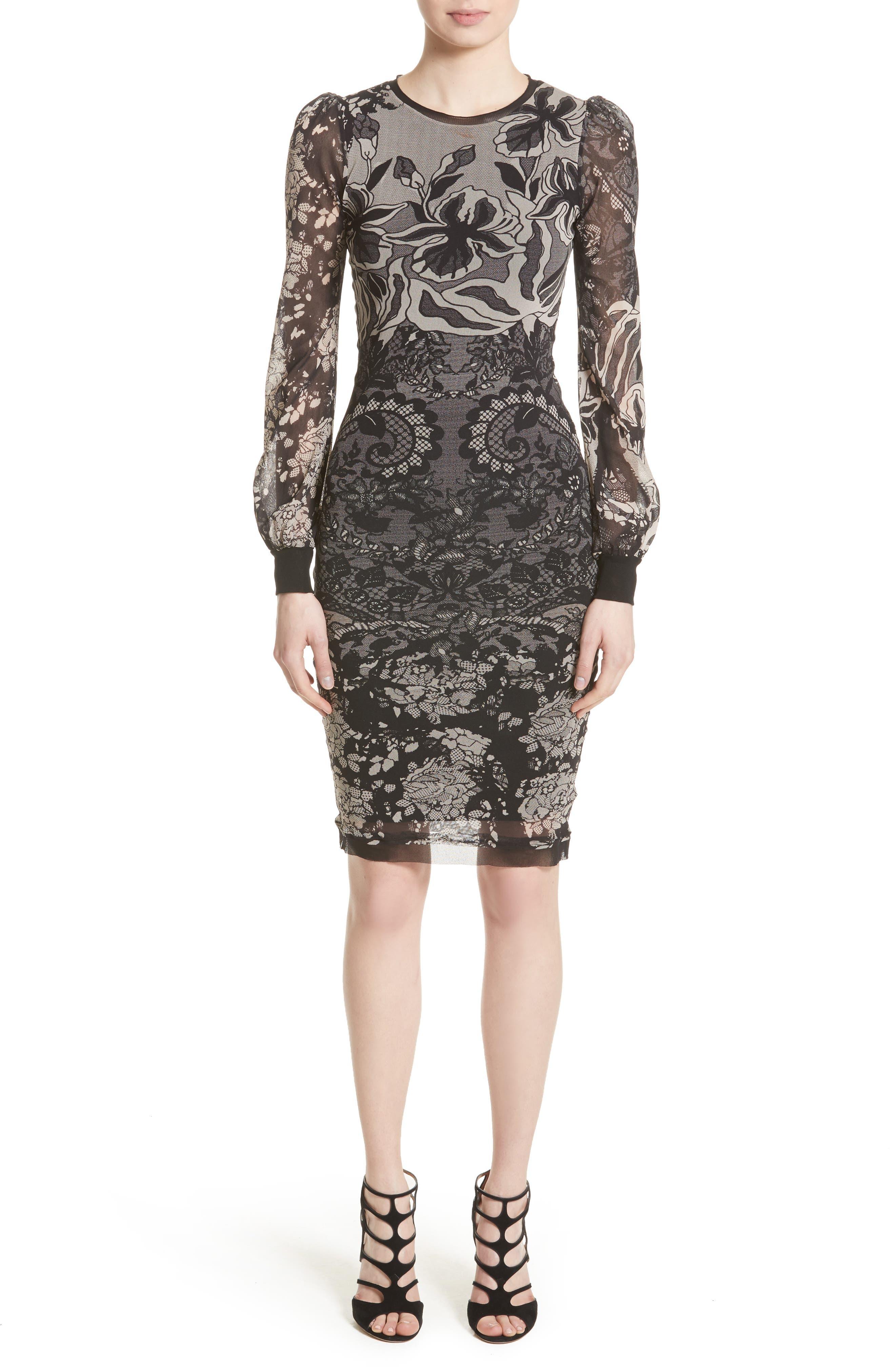 Tulle Sheath Dress,                         Main,                         color, 001