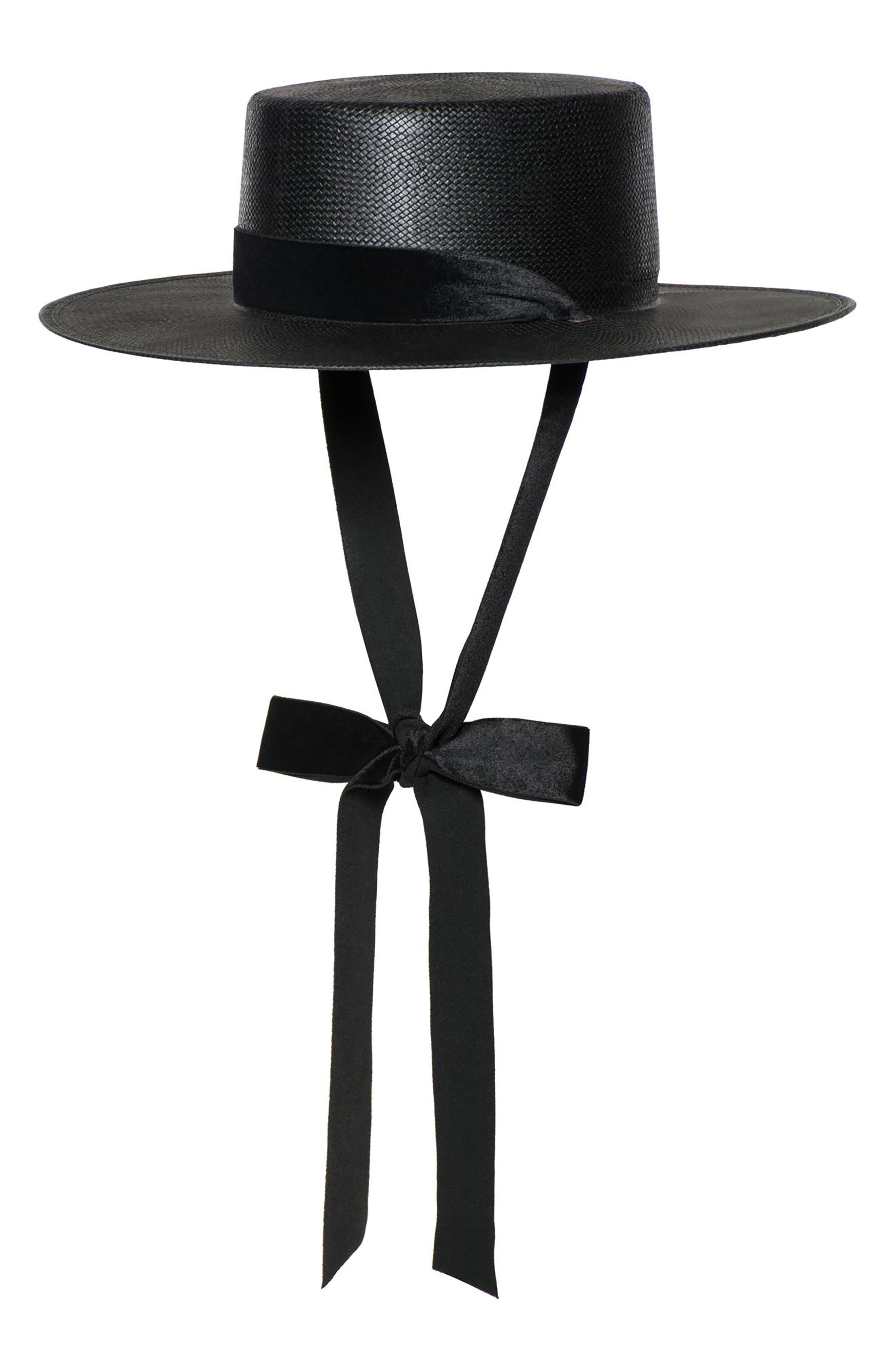 The Heiress Straw Bolero Hat,                         Main,                         color, 001