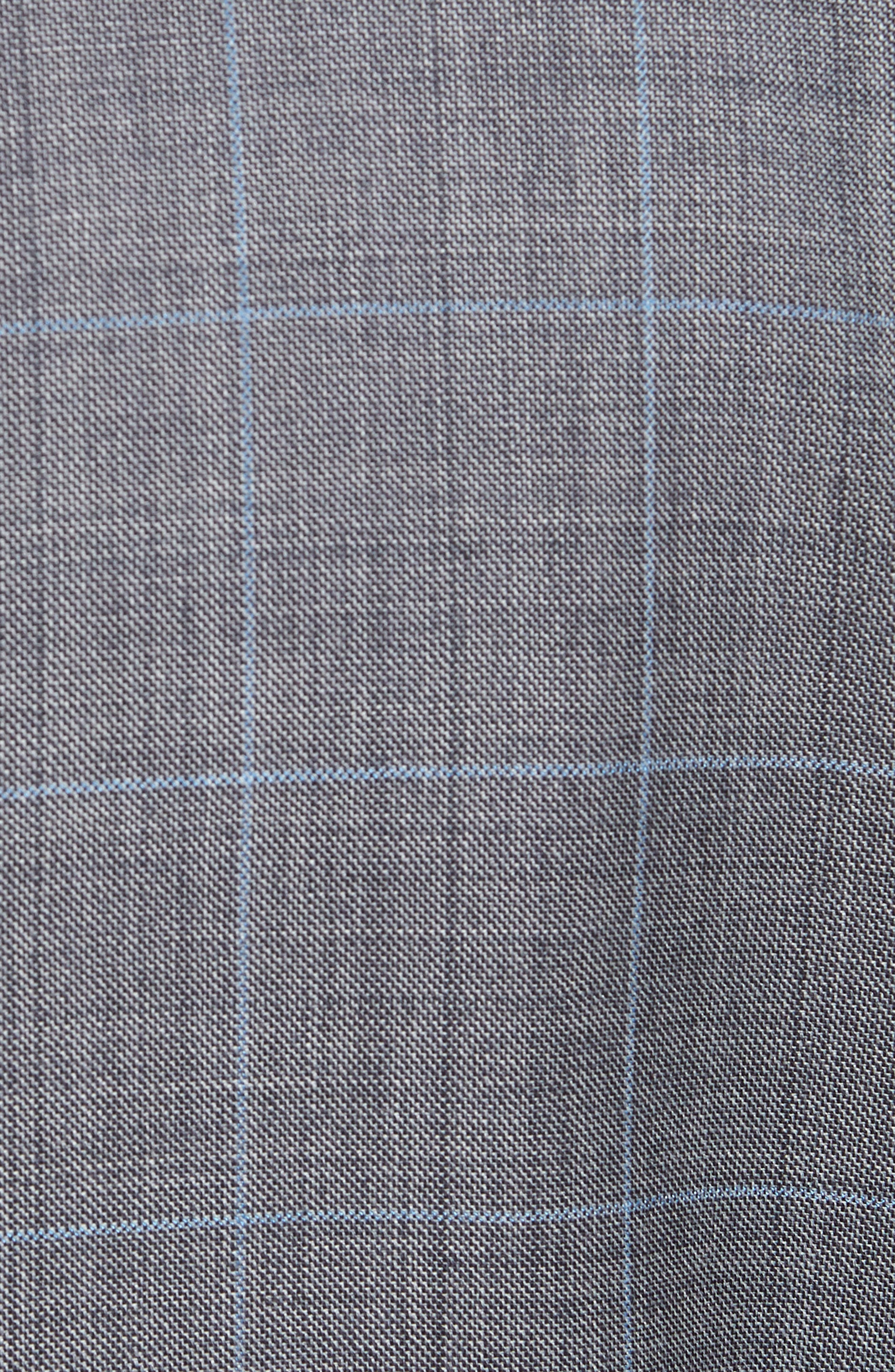 Classic Fit Windowpane Wool Suit,                             Alternate thumbnail 7, color,                             050