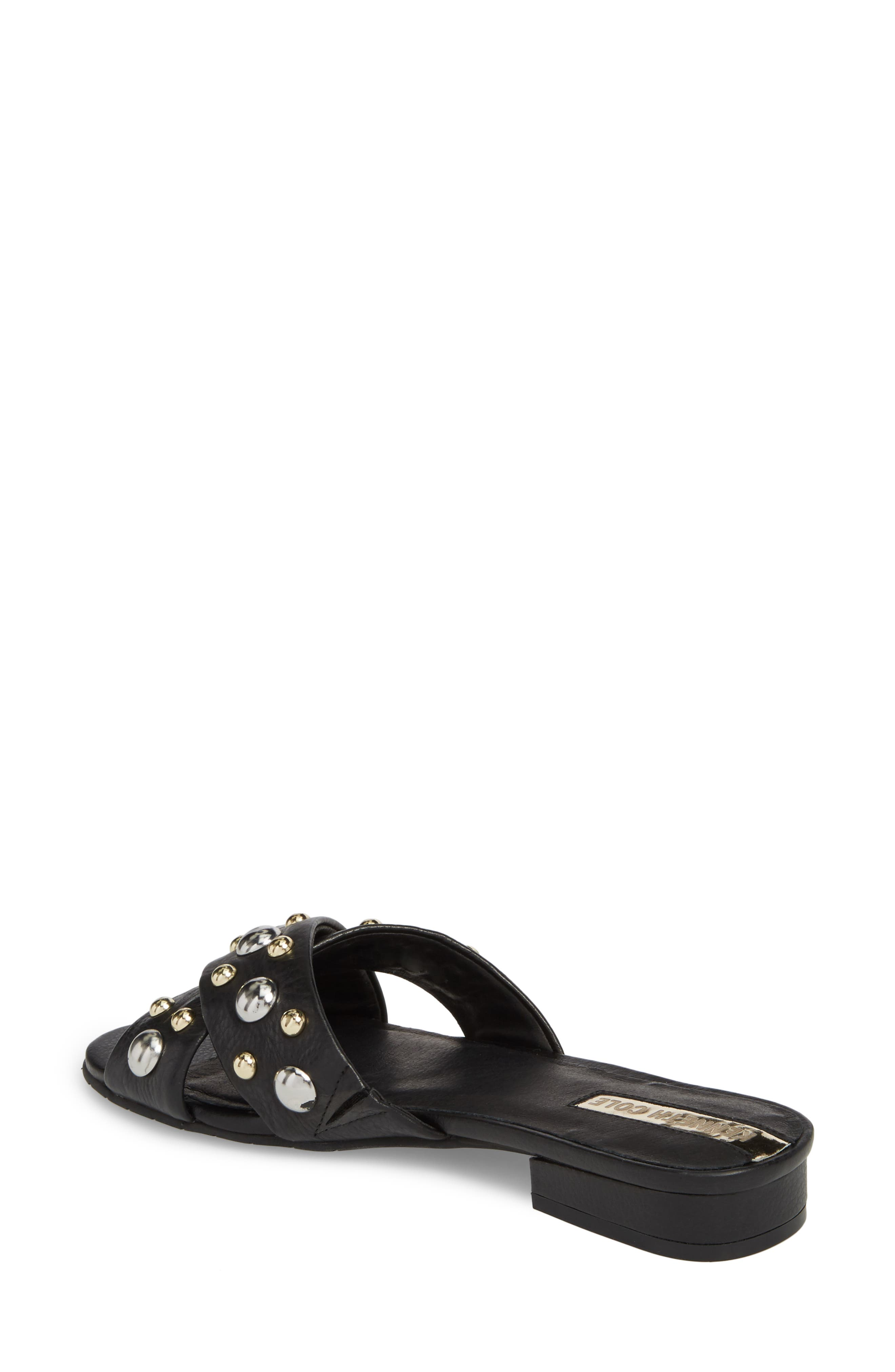 Verna Studded Slide Sandal,                             Alternate thumbnail 4, color,