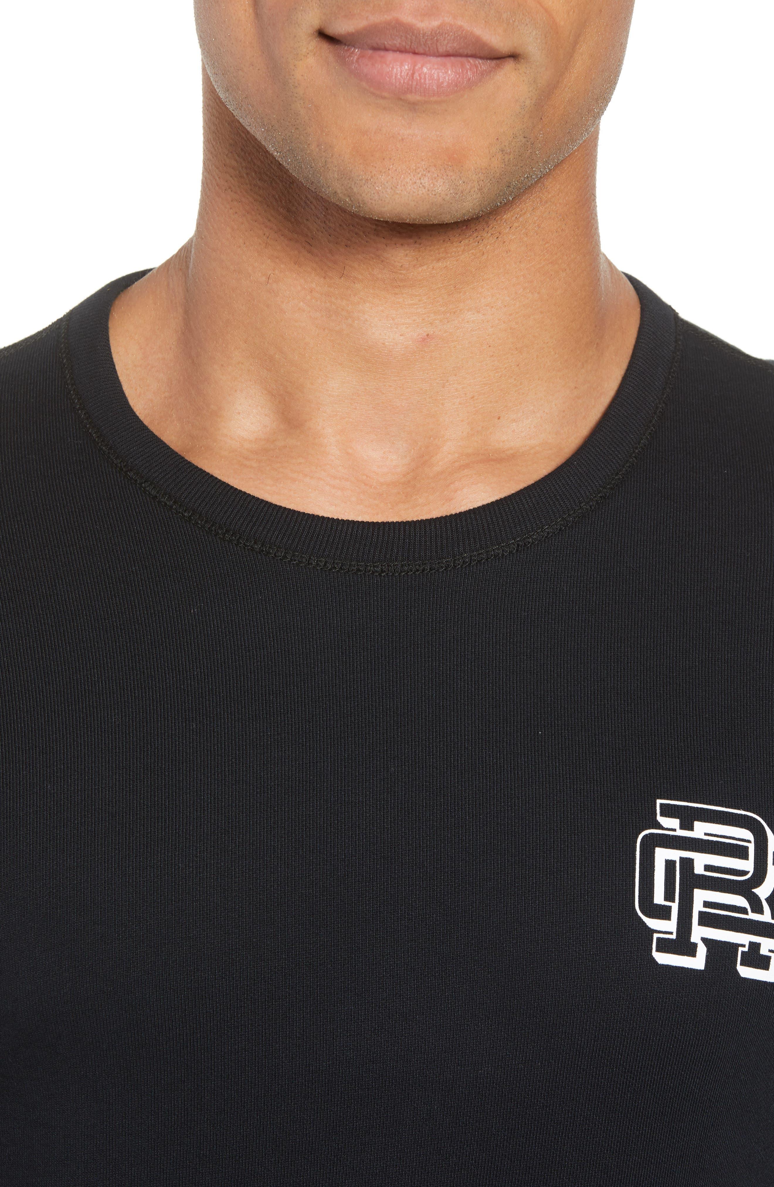 Lightweight Classic Fit Sweatshirt,                             Alternate thumbnail 4, color,                             BLACK