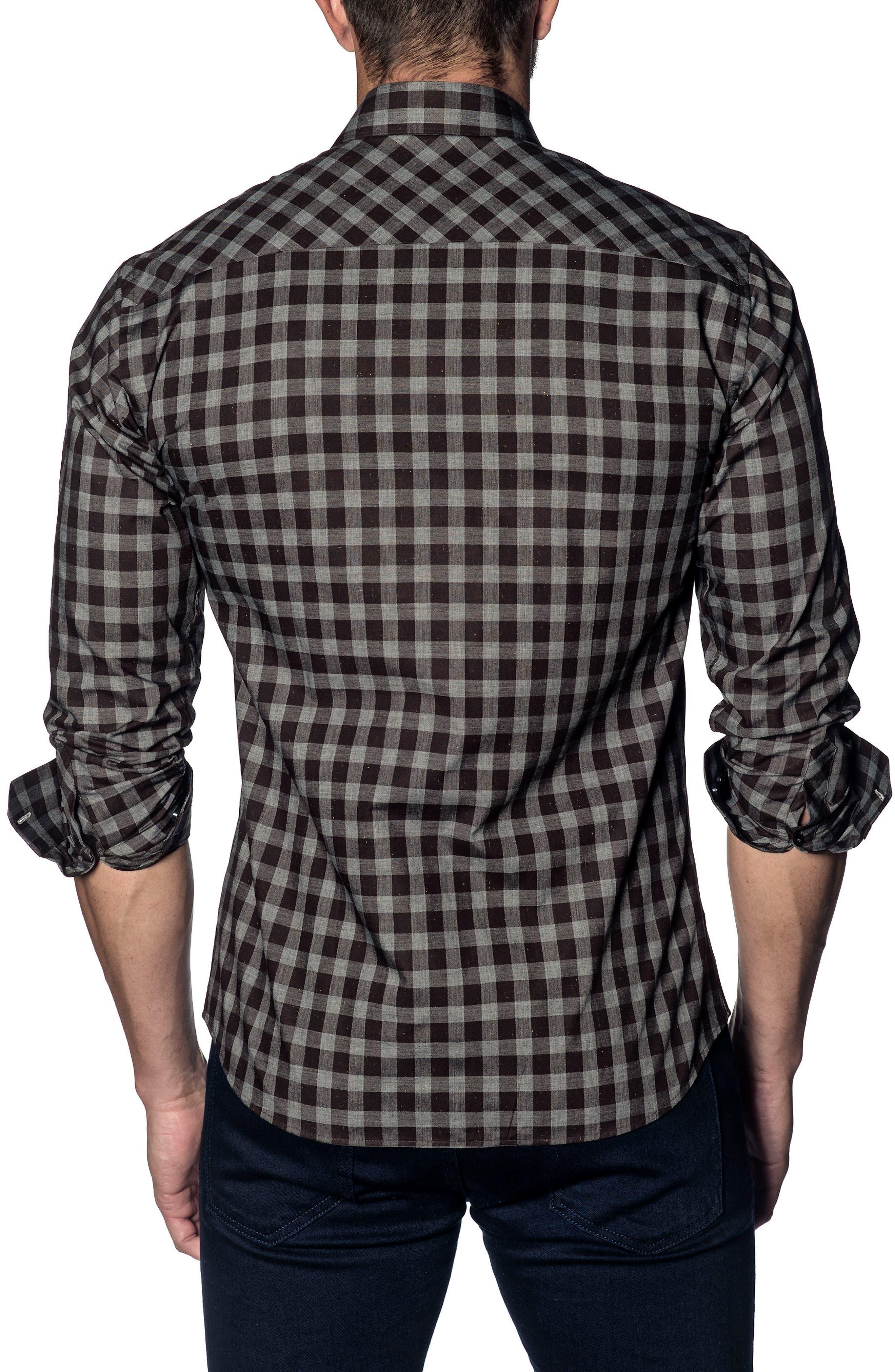 Slim Fit Buffalo Check Sport Shirt,                             Alternate thumbnail 2, color,