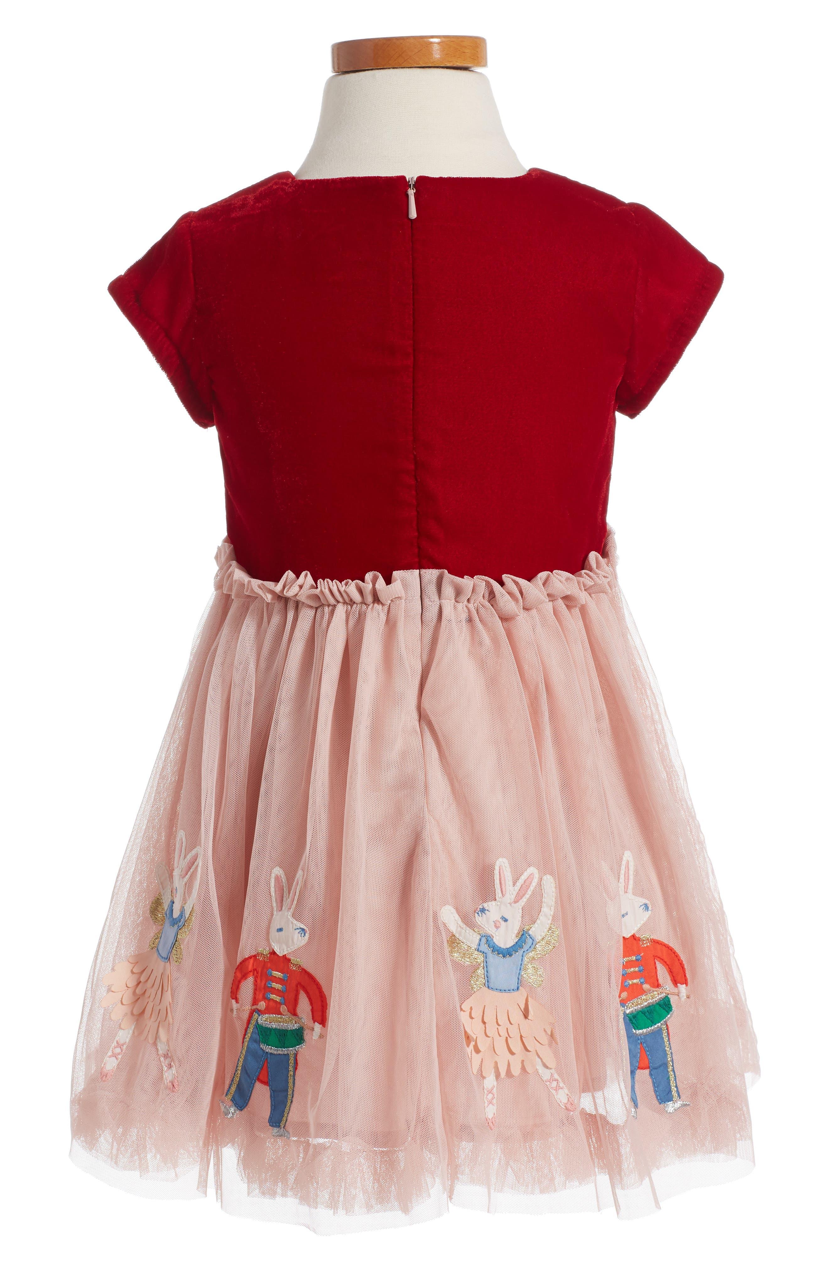 Velvet Tulle Dress,                             Main thumbnail 1, color,                             654